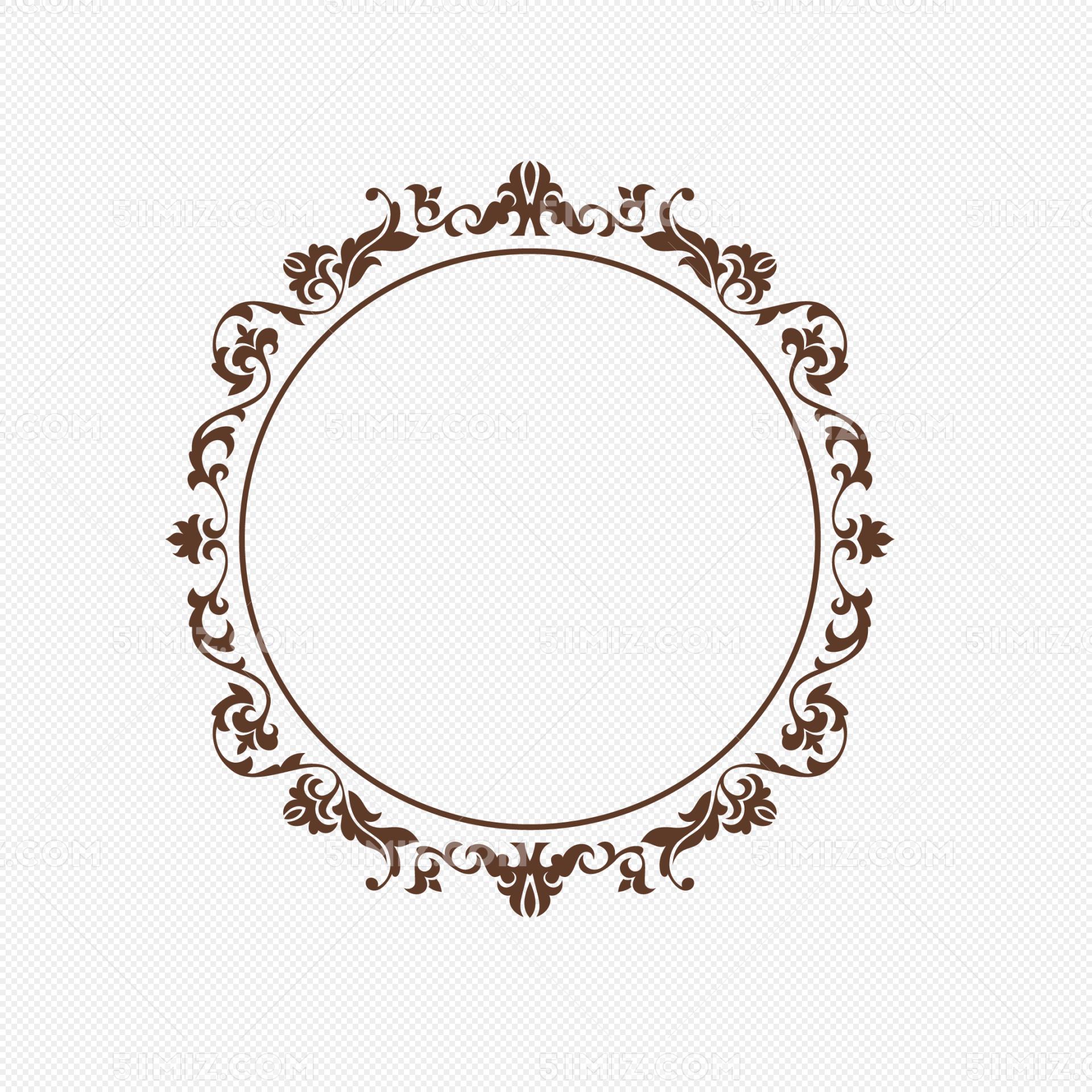 欧式大气圆形边框纹饰免费下载_png素材_觅知网