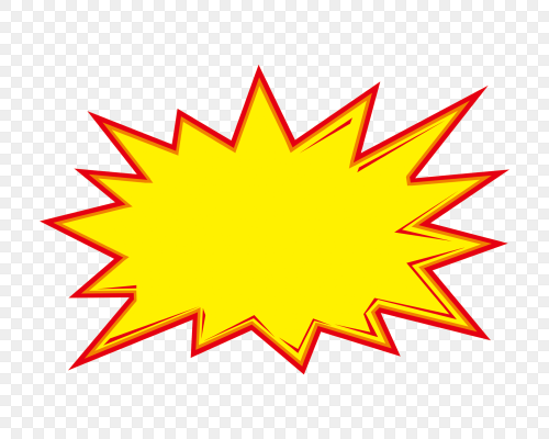 爆炸框黃色價格標簽