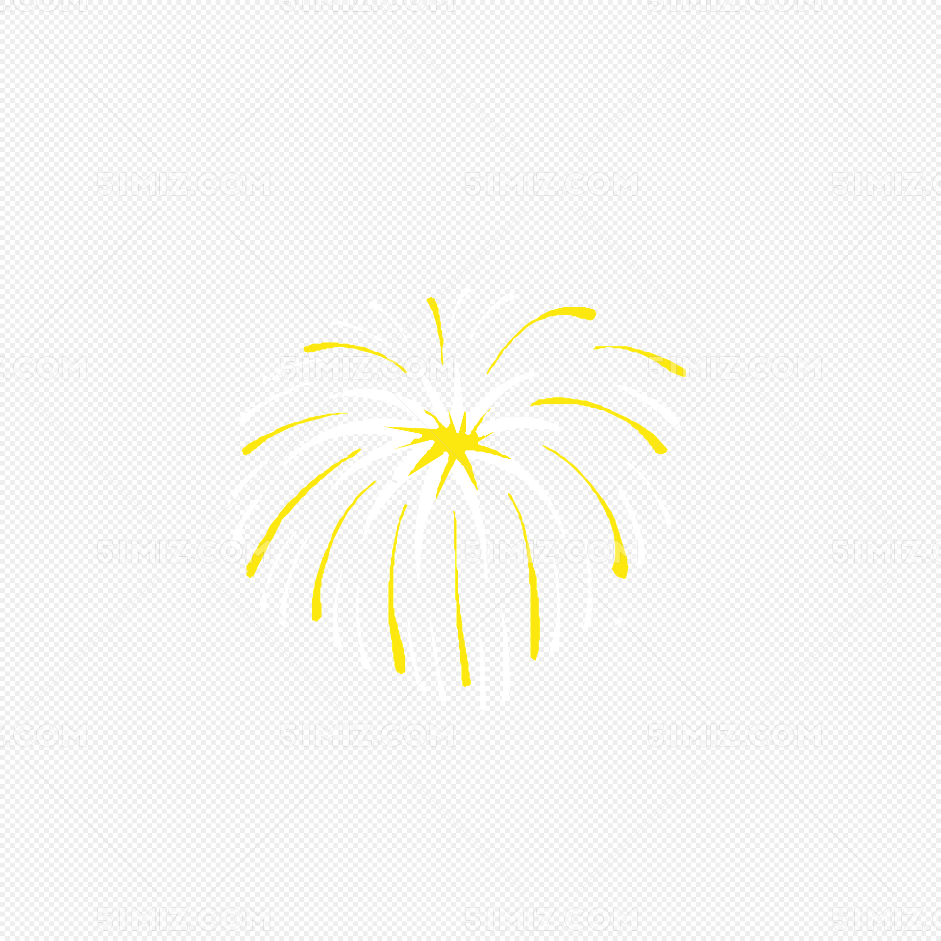 矢量手绘水彩背景装饰免费下载 玫 璀璨的烟花