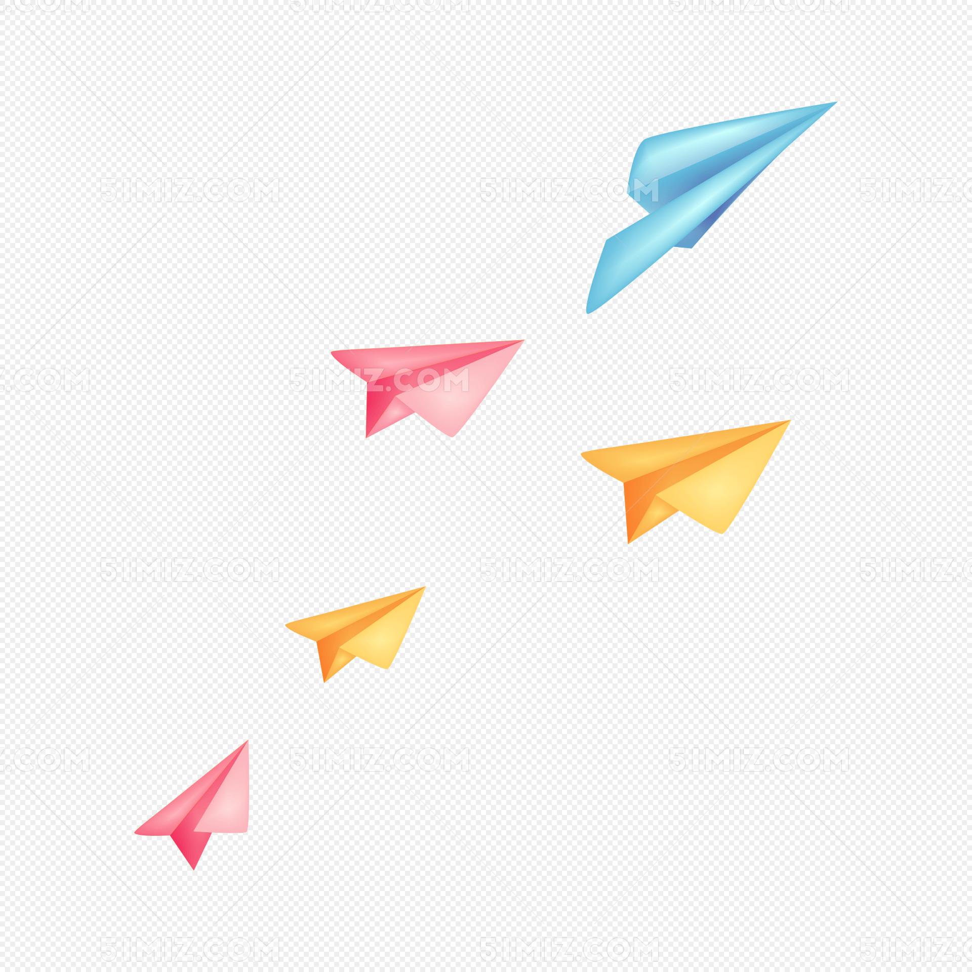 手绘纸飞机图片素材免费下载_觅知网