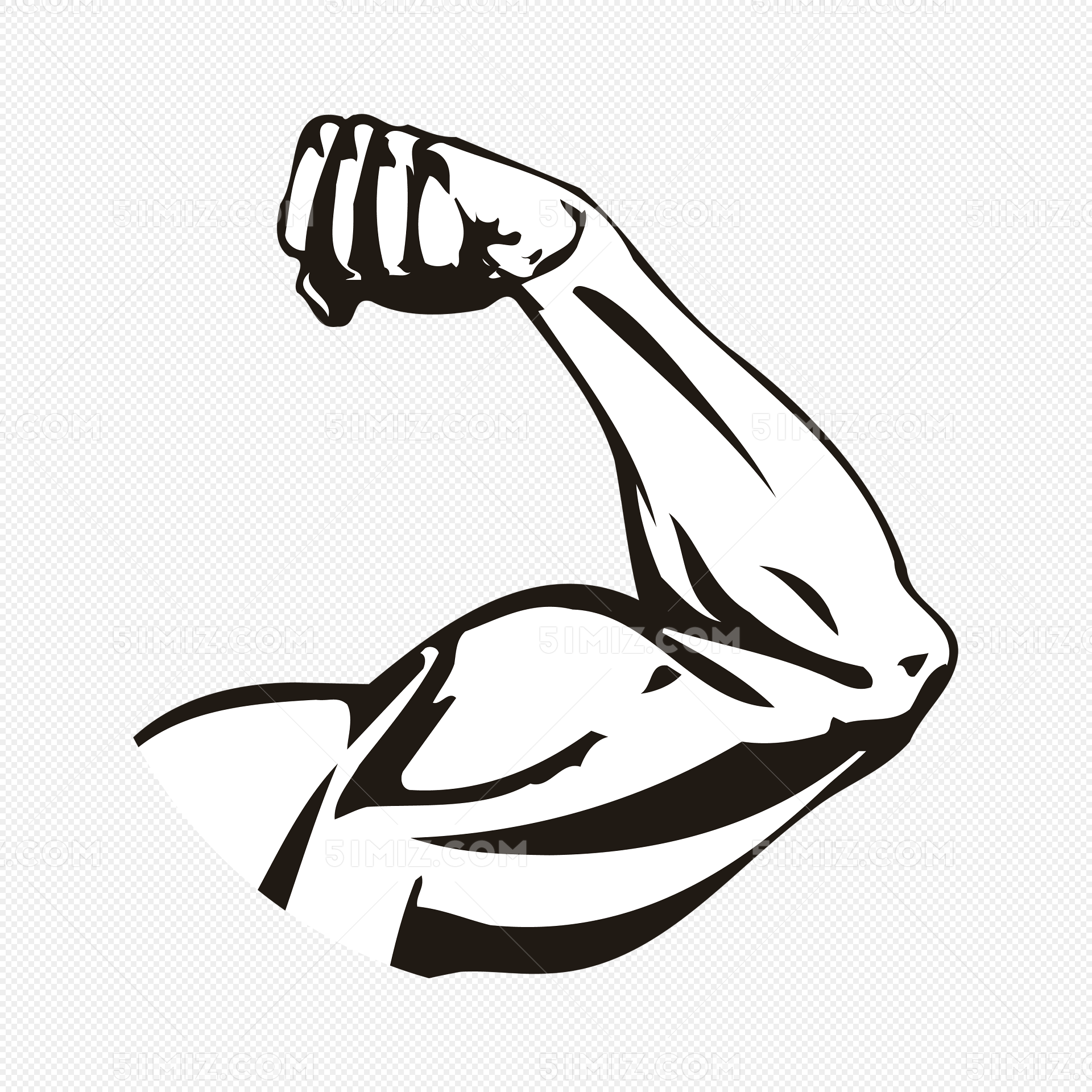 强壮的手臂免费下载_png素材_觅知网