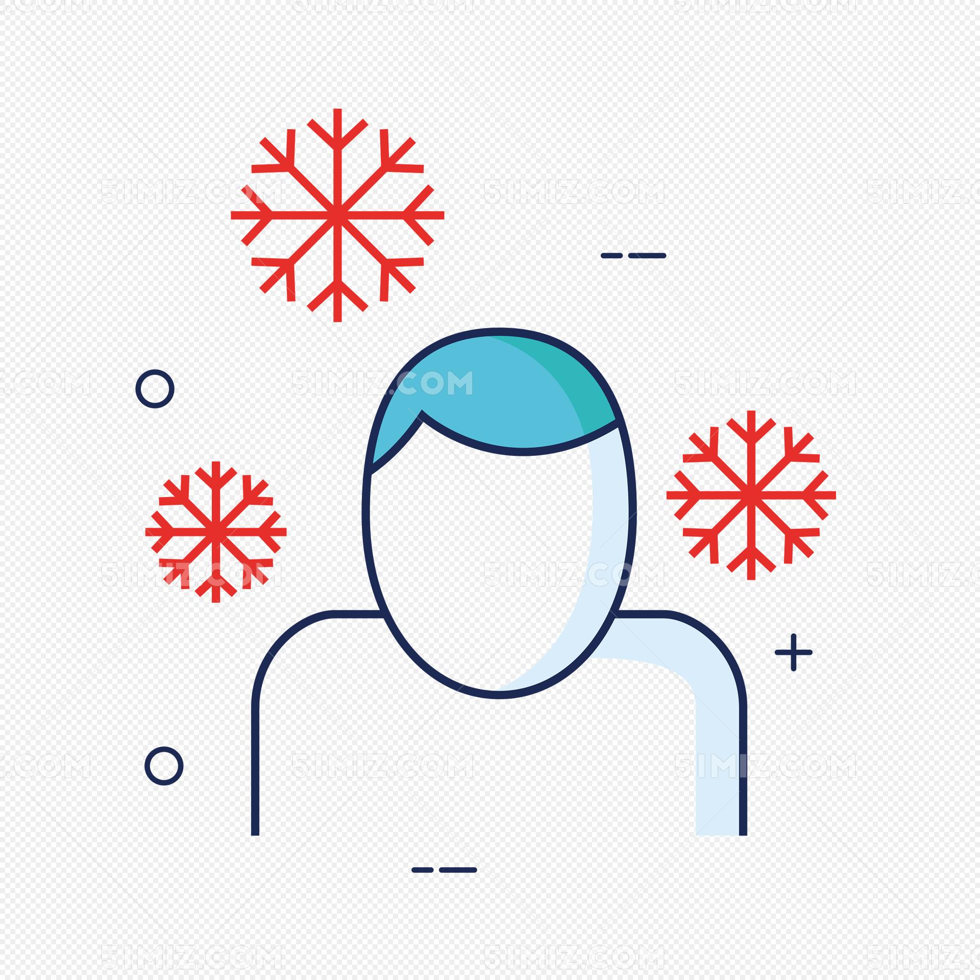 卡通无脸受冻小人图片素材免费下载_觅知网