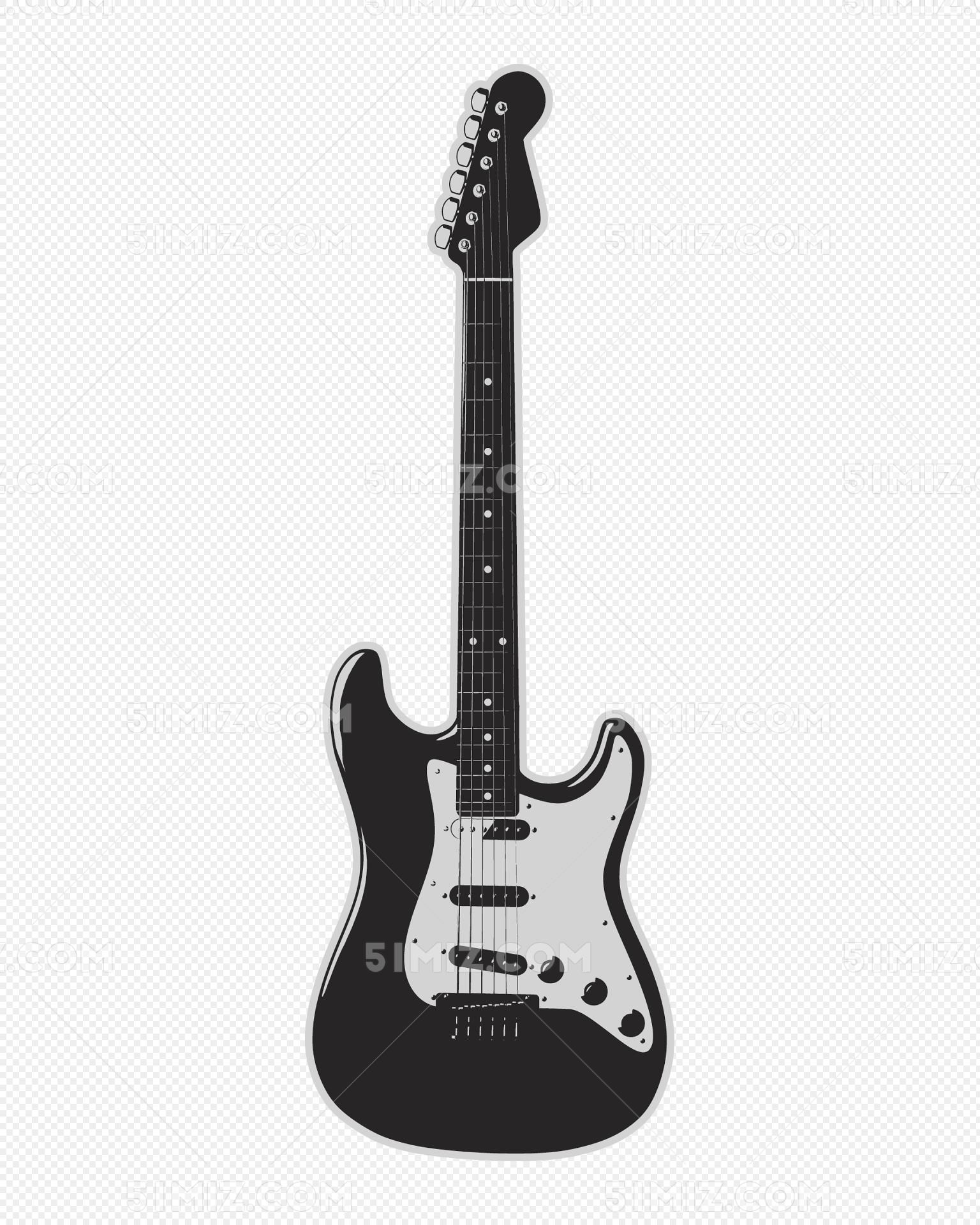 乐器吉他贝斯矢量图