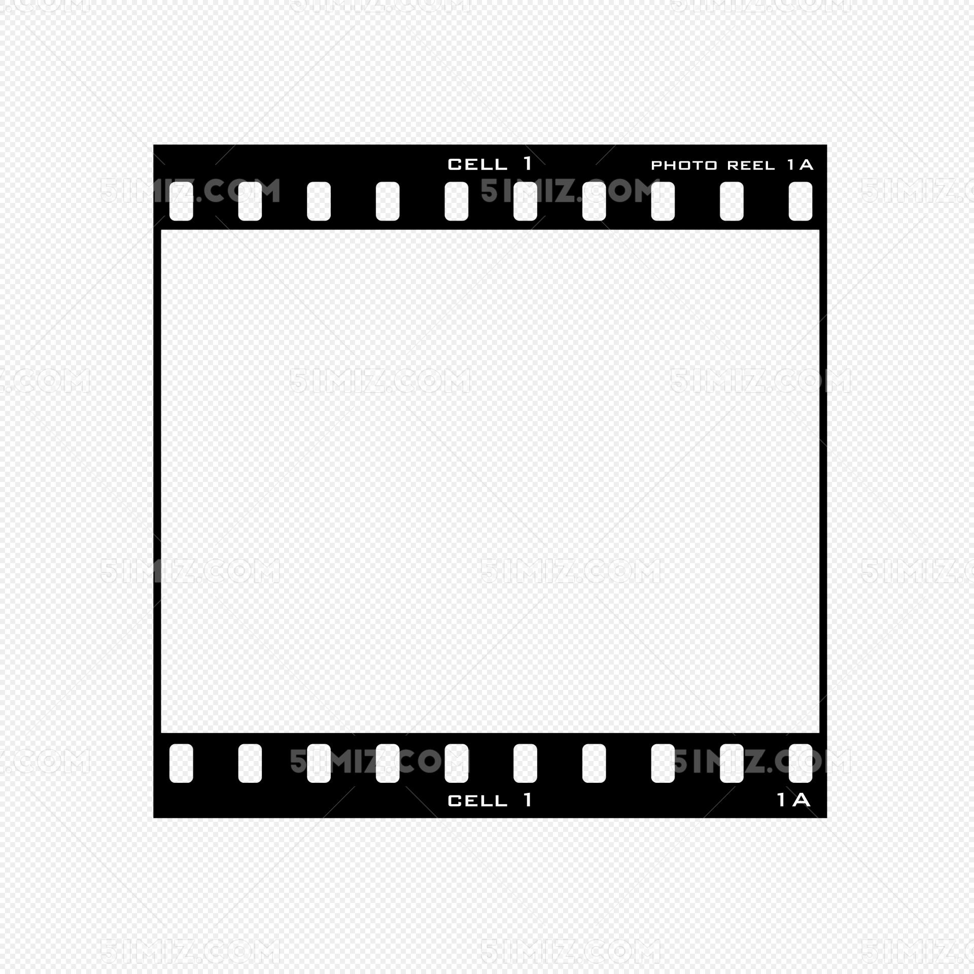 黑色几何手绘胶卷边框