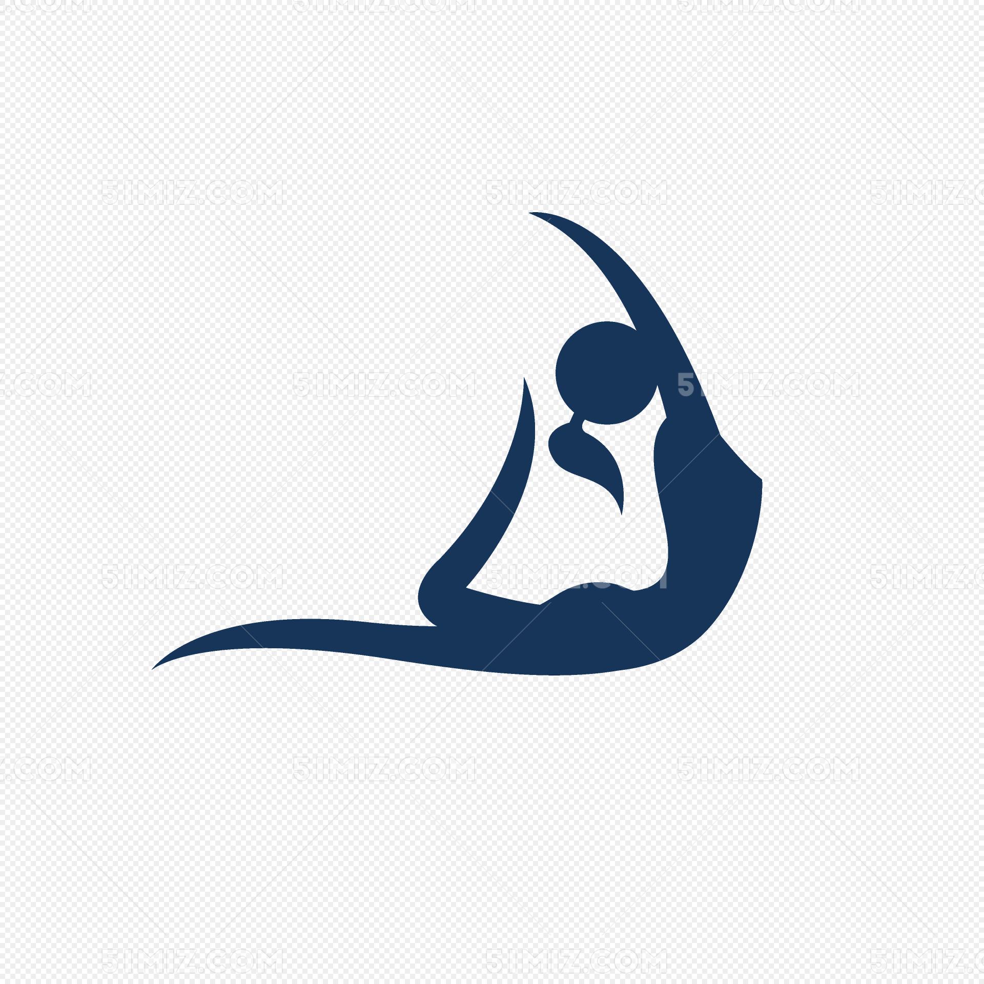 瑜伽運動設計圖標元素