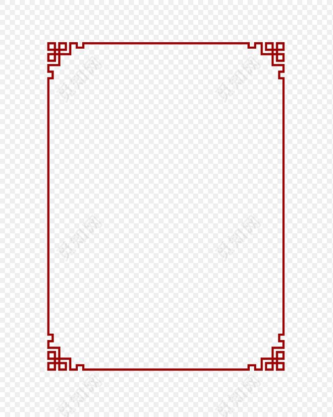 中式水墨风格大气边框素材