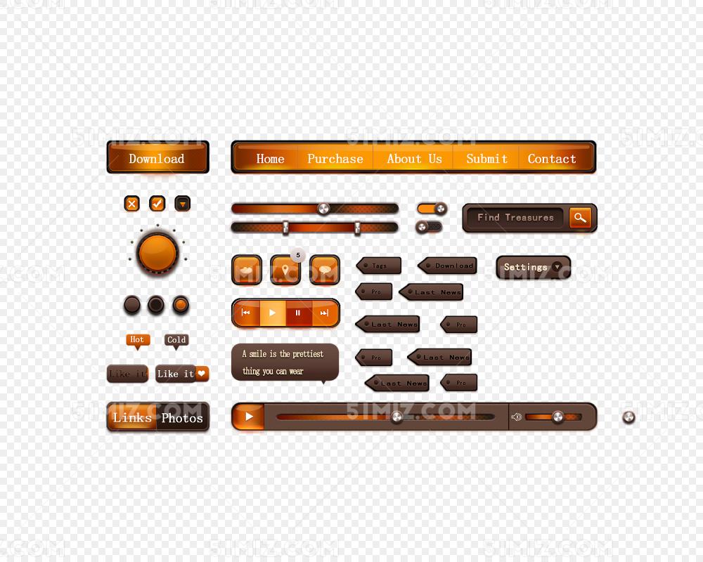 橙色高光质感UIv橙色滑动条平面设计对画画的要求图片