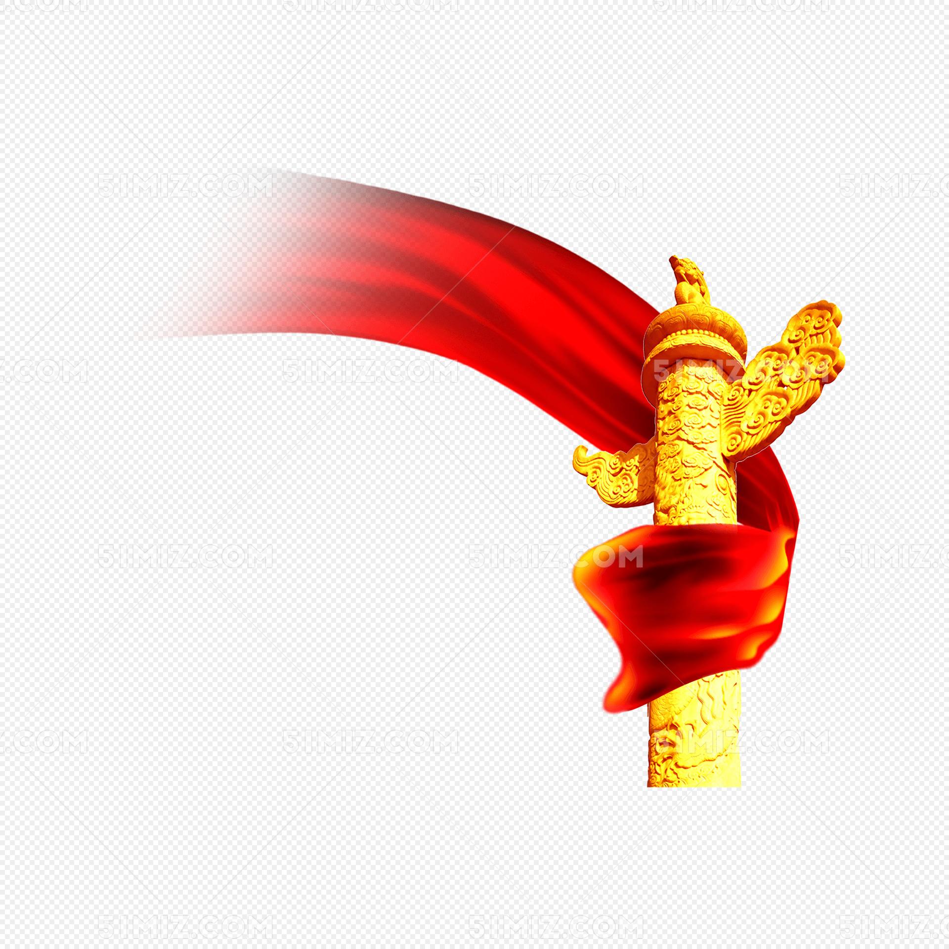 天安门华表绸带装饰图片素材免费下载_觅知网
