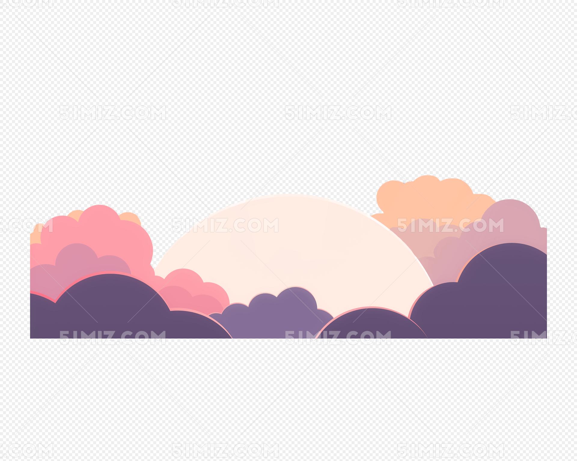 中秋云朵中的圆月图片素材免费下载_觅知网