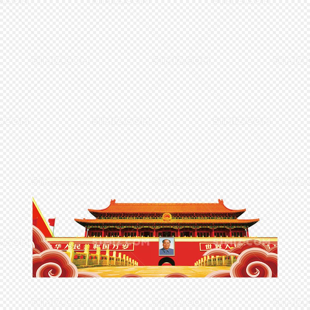 手绘北京天安门广场