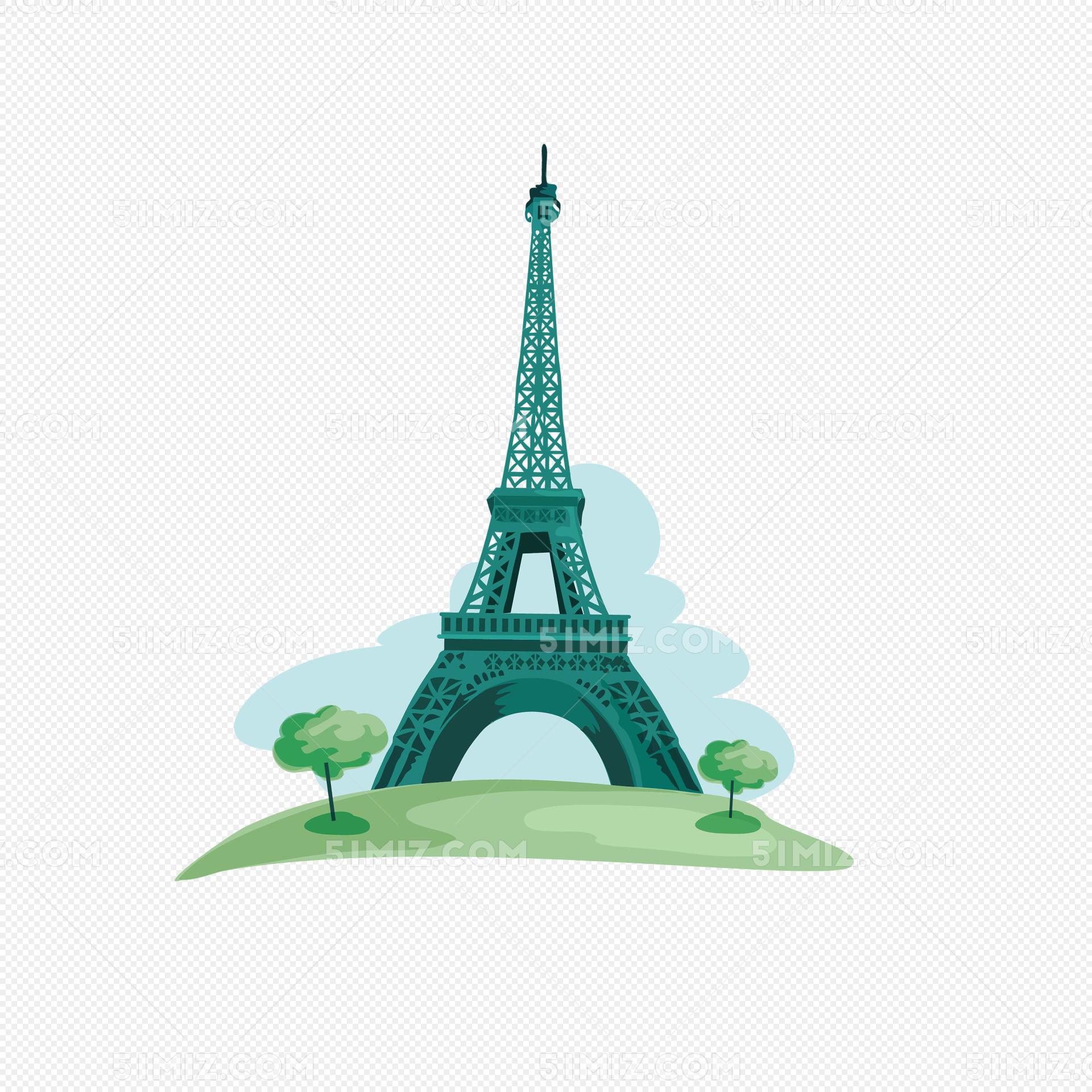 手绘法国埃菲尔铁塔