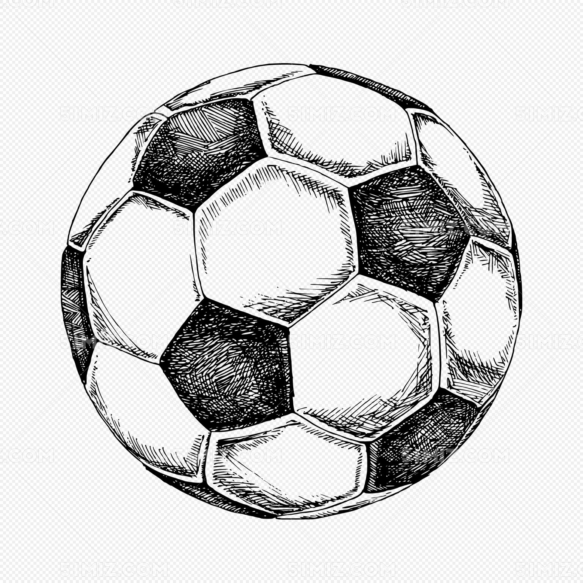 矢量手绘足球元素