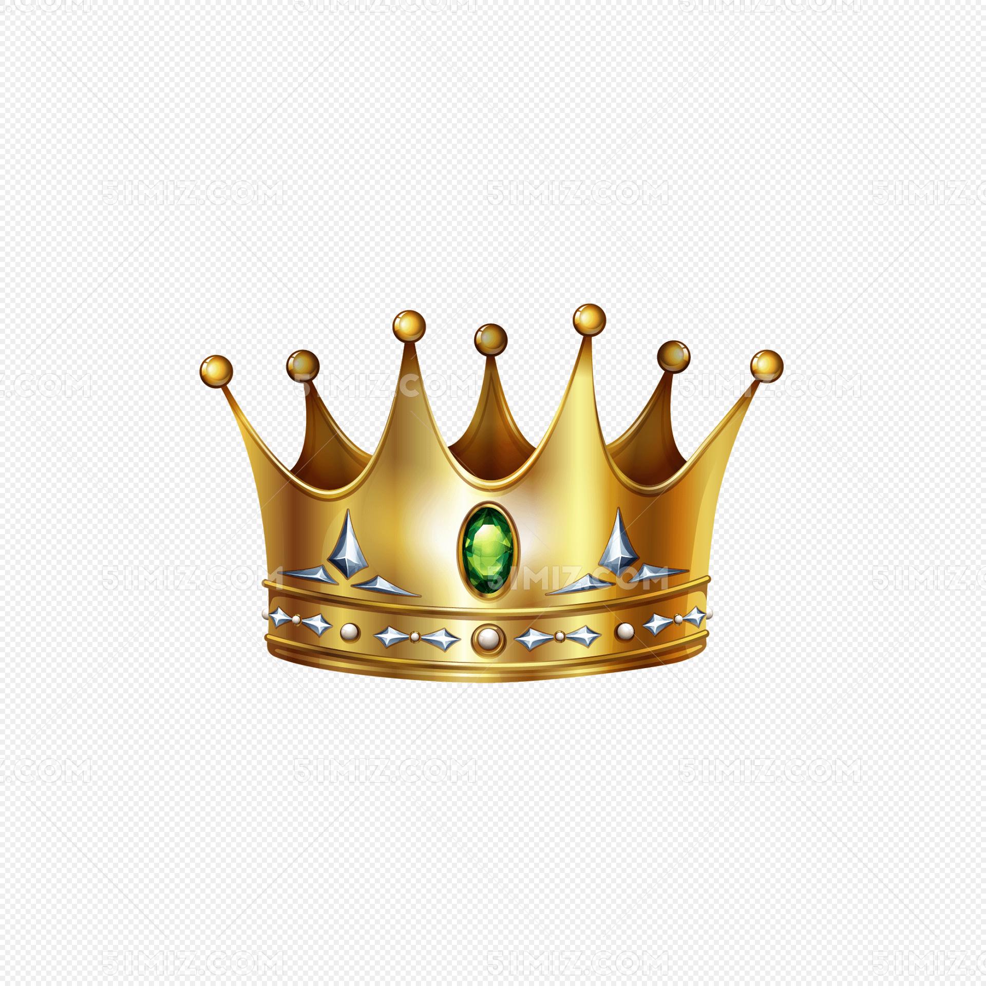 国王王冠设计矢量图片