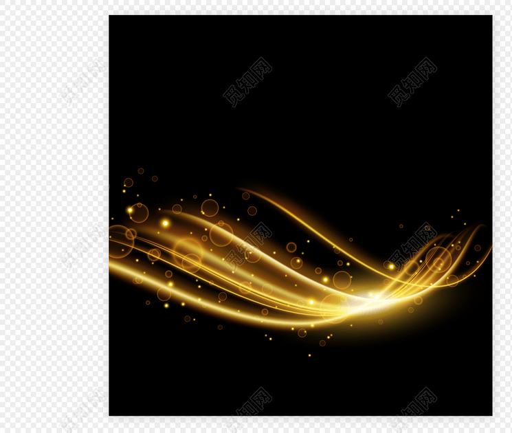 矢量金色線條光效特效