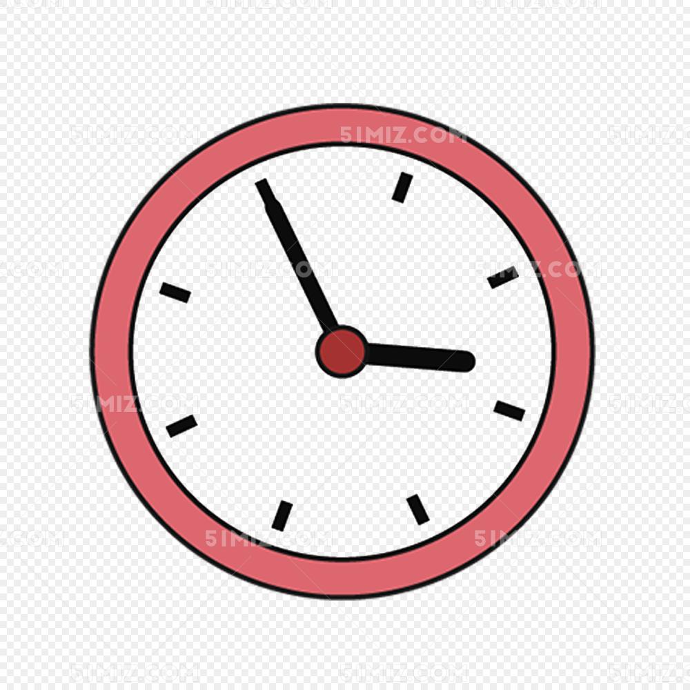 卡通手绘简笔画闹钟时钟