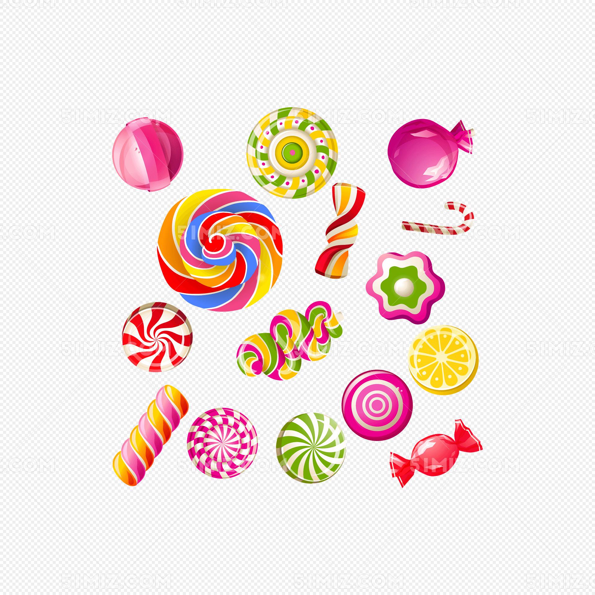 水果 彩色糖果矢量图
