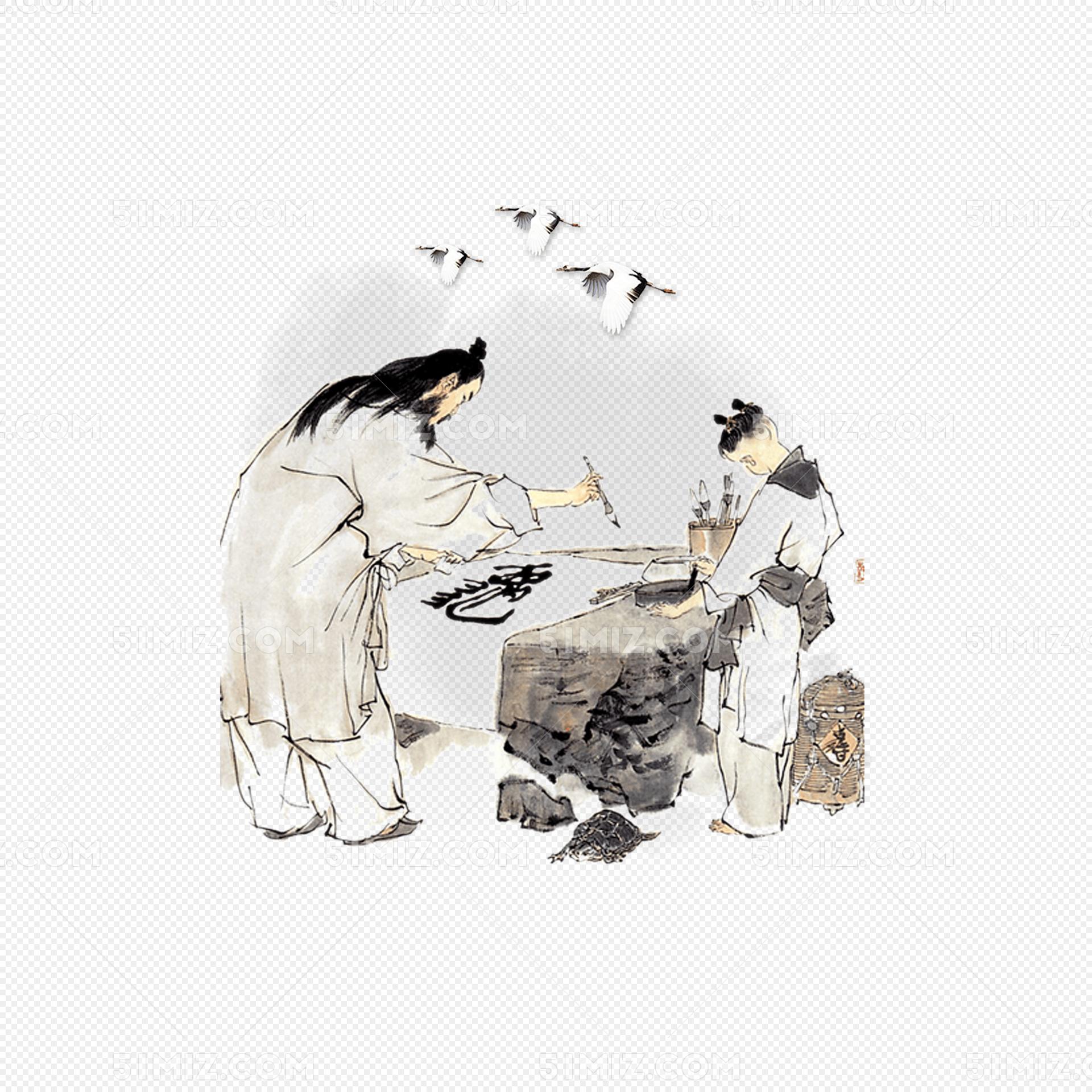中国风教师节水墨画传统育人背景图片素材免费下载_觅