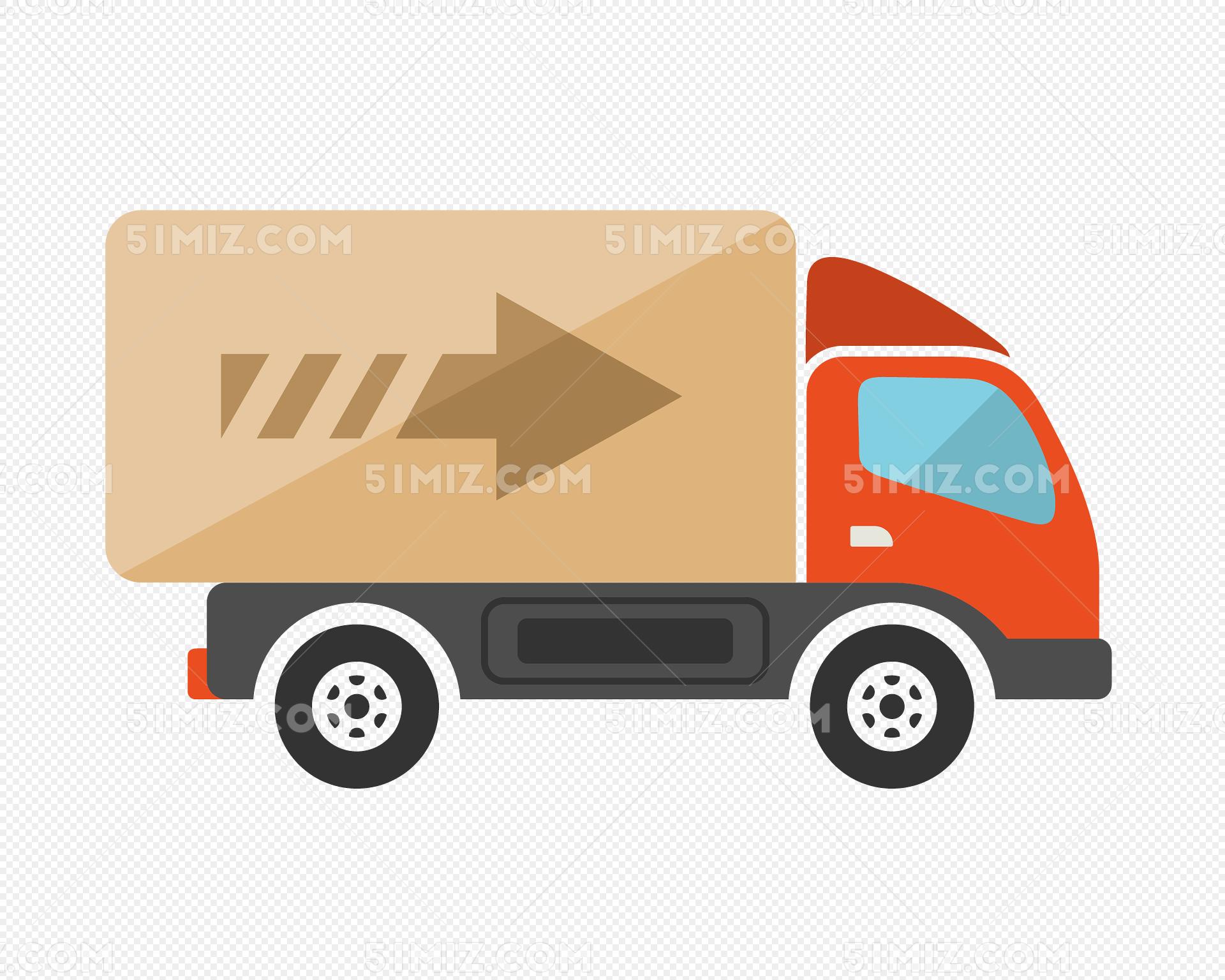 卡通小货车免费下载_png素材_觅知网