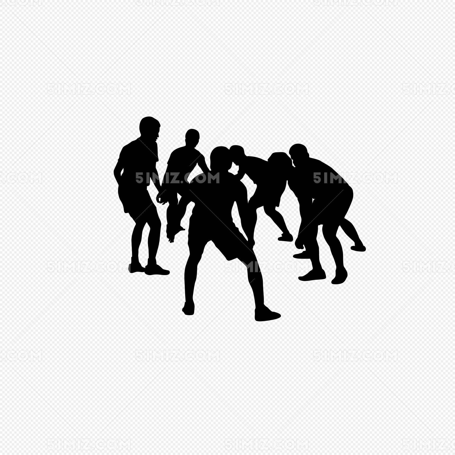 打篮球人物剪影免费下载_png素材_觅知网