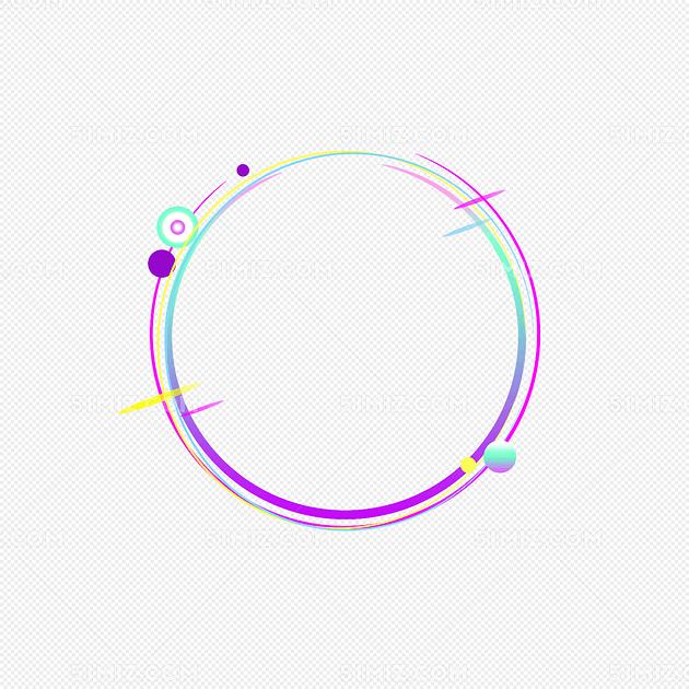 电商圆形创意酷炫边框图片素材免费下载_觅知网