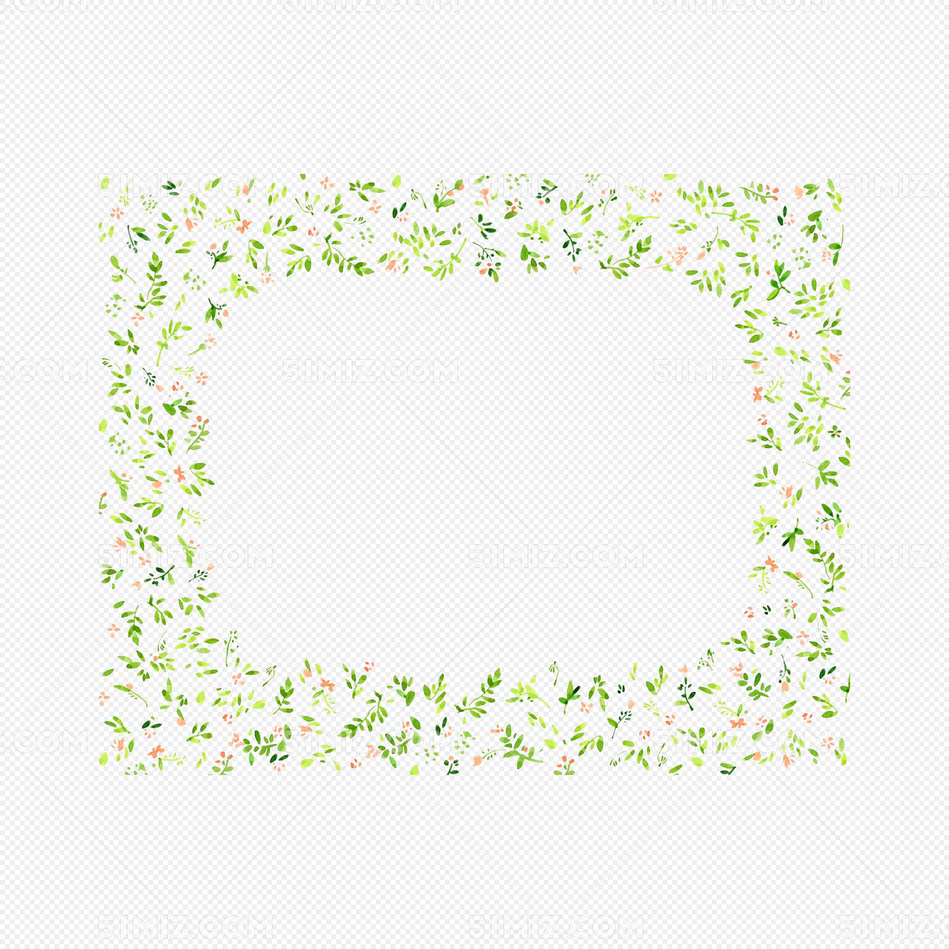 小清新碎花文本框免费下载_png素材_觅知网