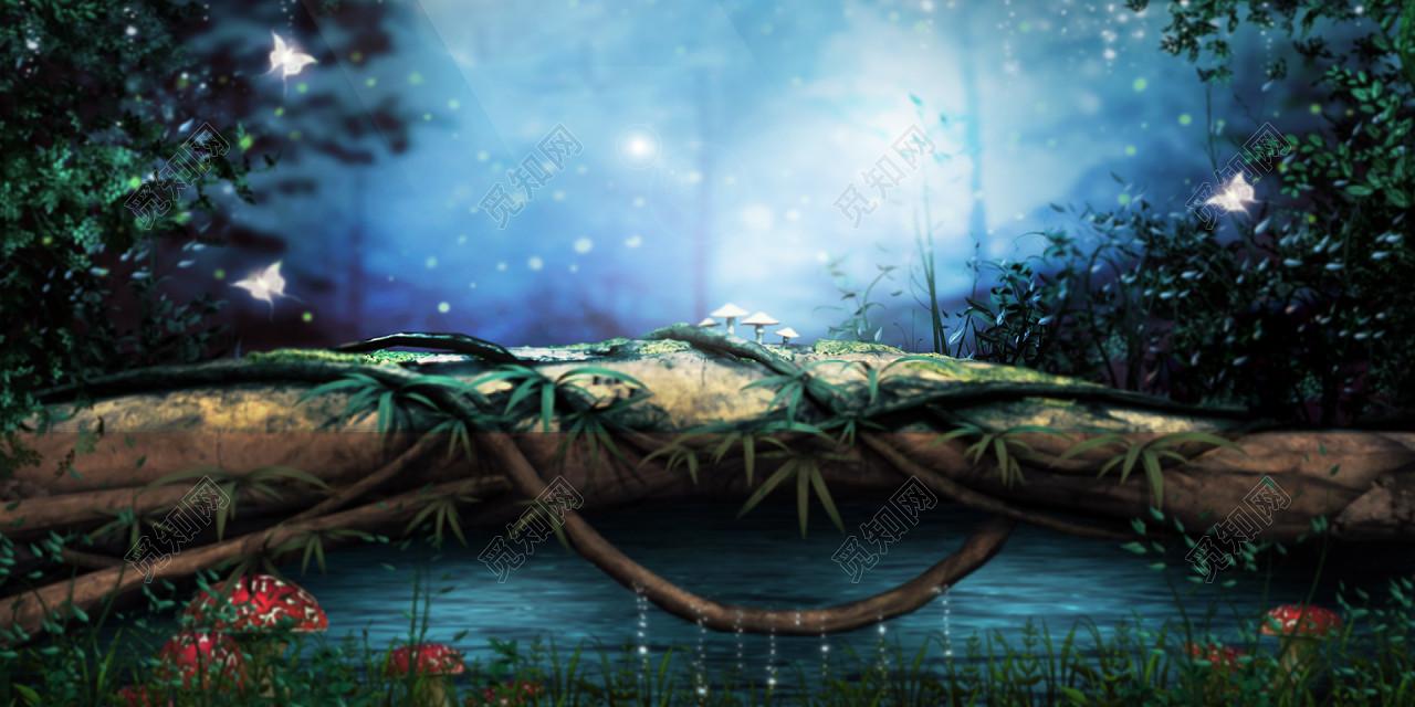虚幻森林游戏背景图图片