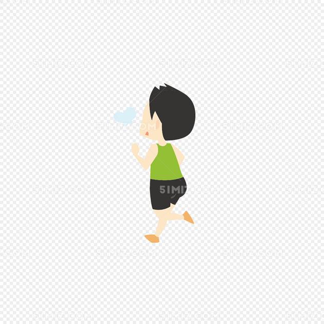 人物剪影素描手绘运动小人 跑步的小人图片素材免费