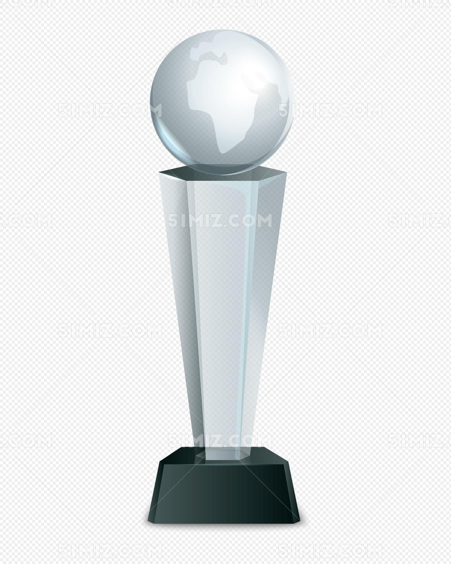 水晶奖杯矢量图