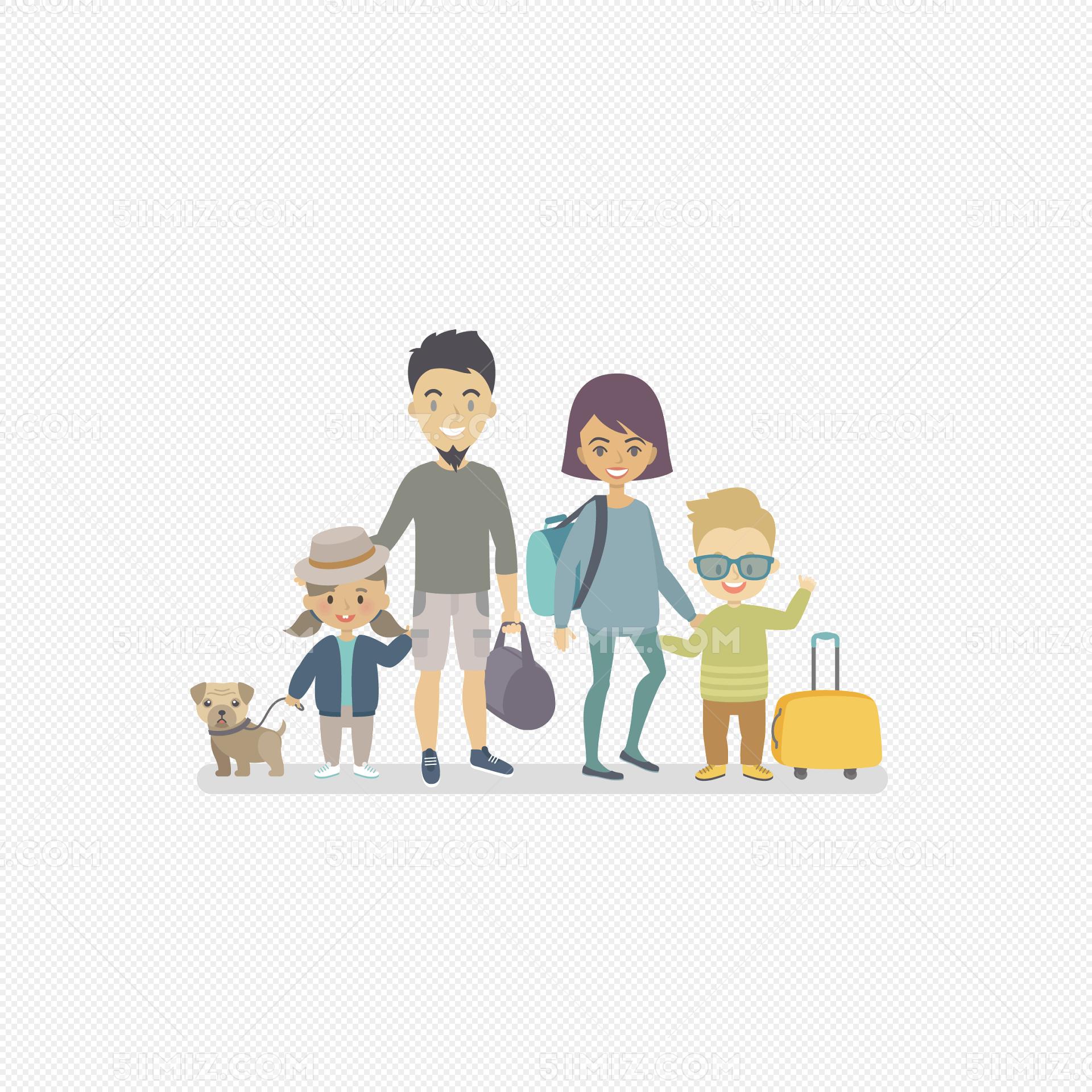 亲子游卡通手绘插画标签:亲子游卡通手绘插画免费下载 旅游 家庭 亲子