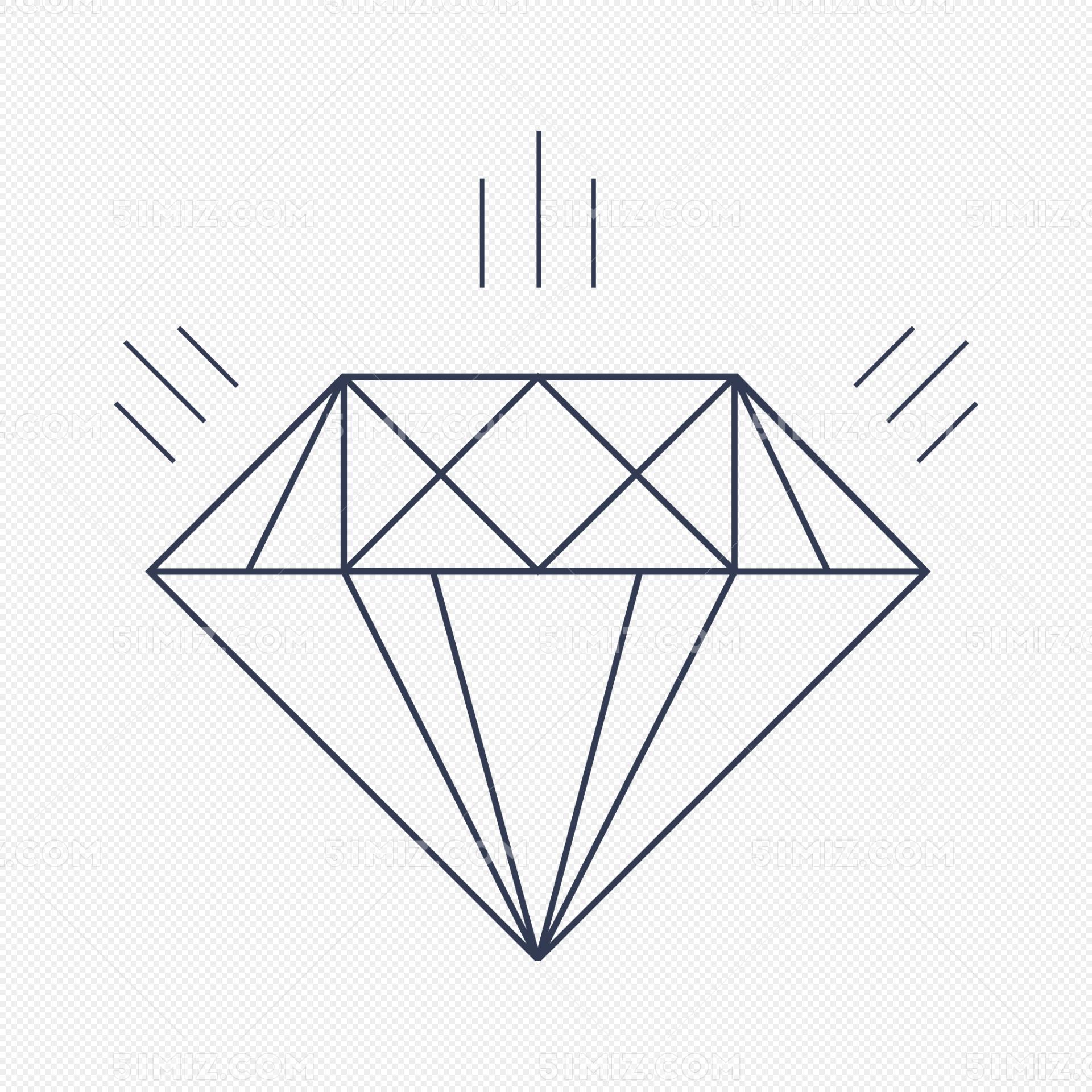矢量线条钻石闪光图片素材免费下载_觅知网