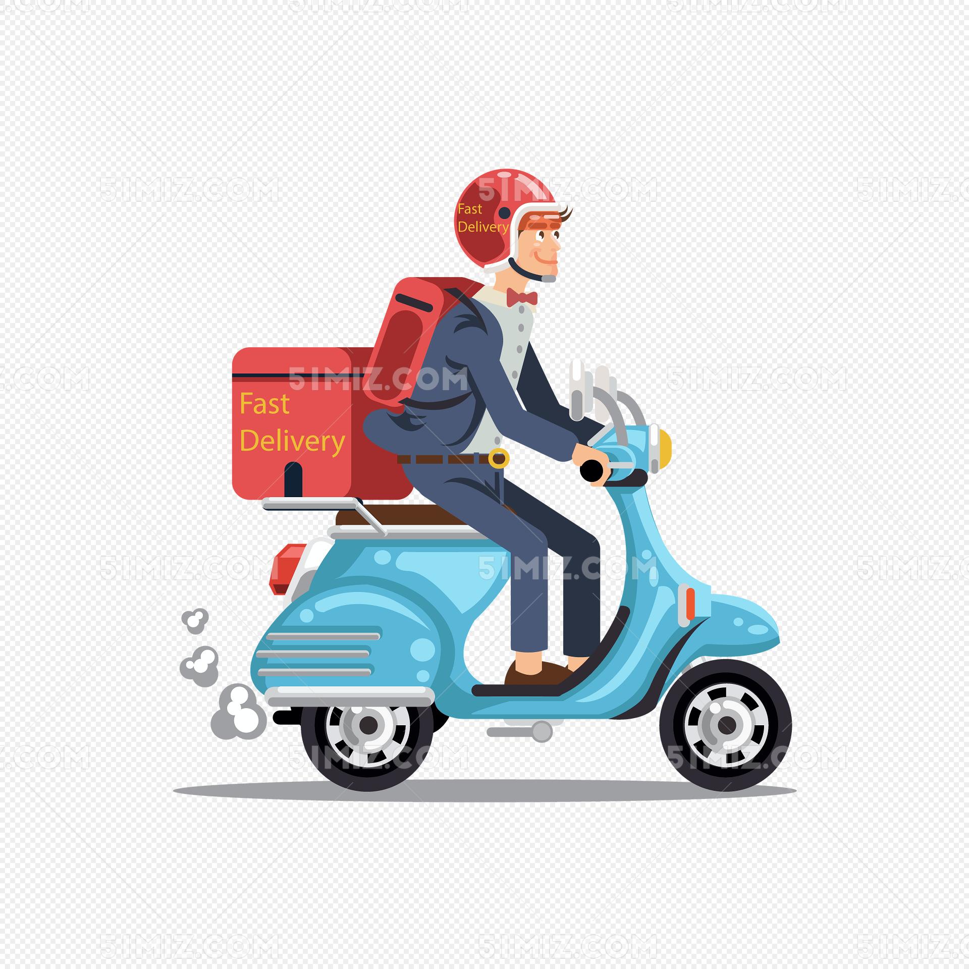 png素材 时尚外卖送餐员设计矢量图标签:卡通男子矢量图送餐员背景