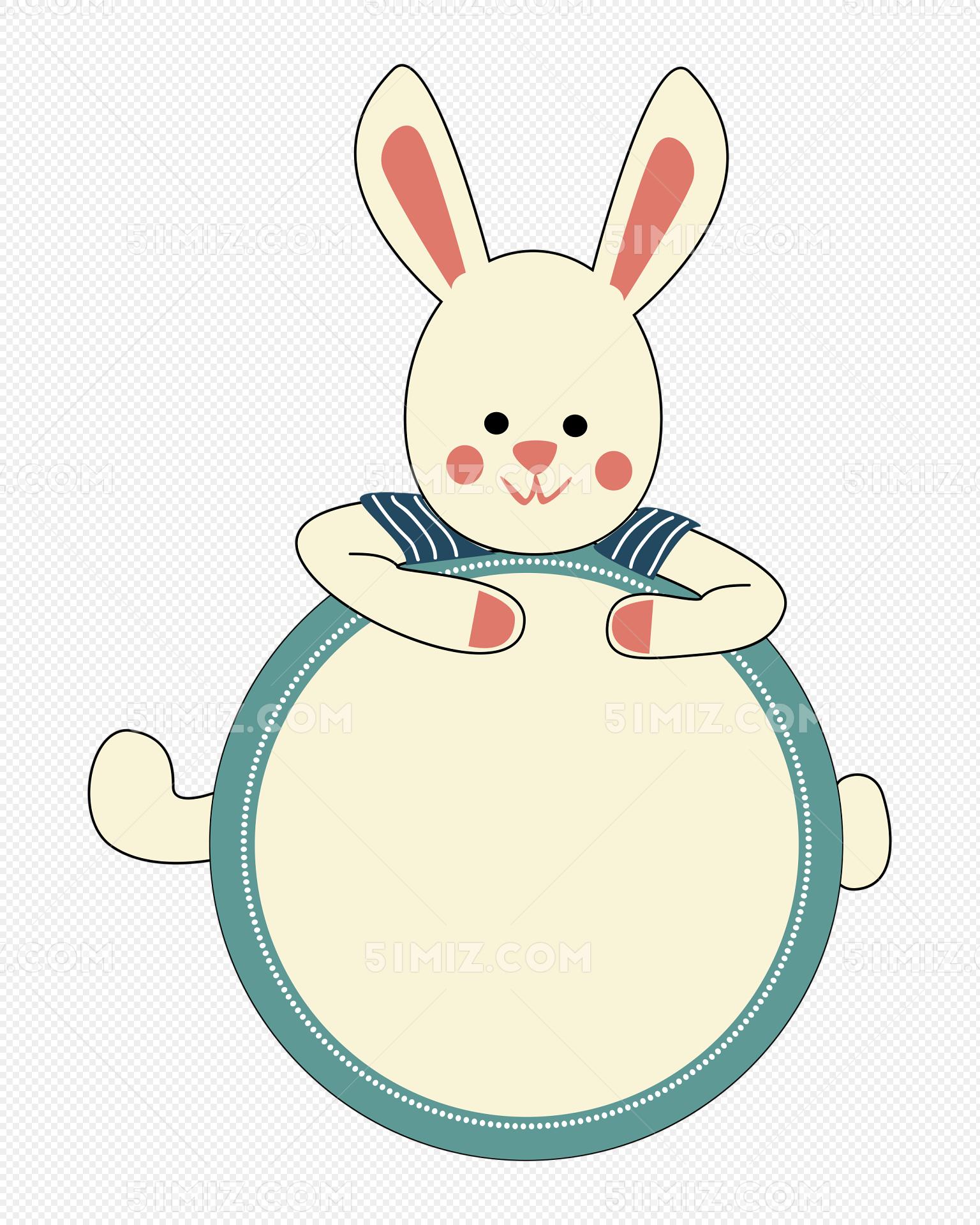 兔子边框矢量