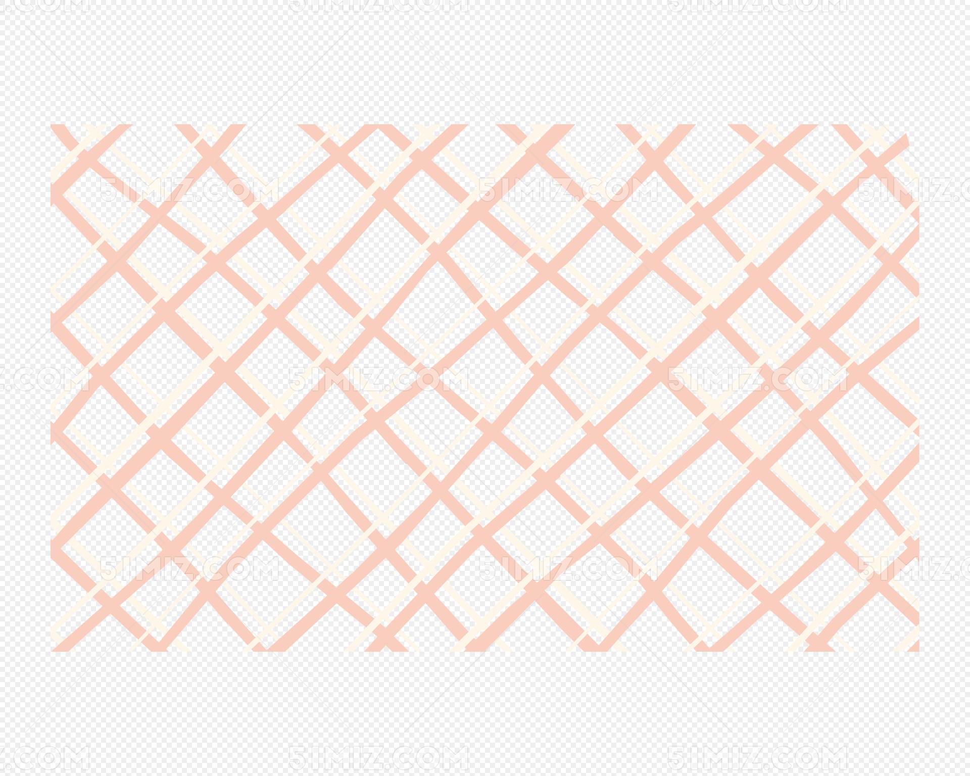 矢量手绘粉色网格图片素材免费下载 觅知网