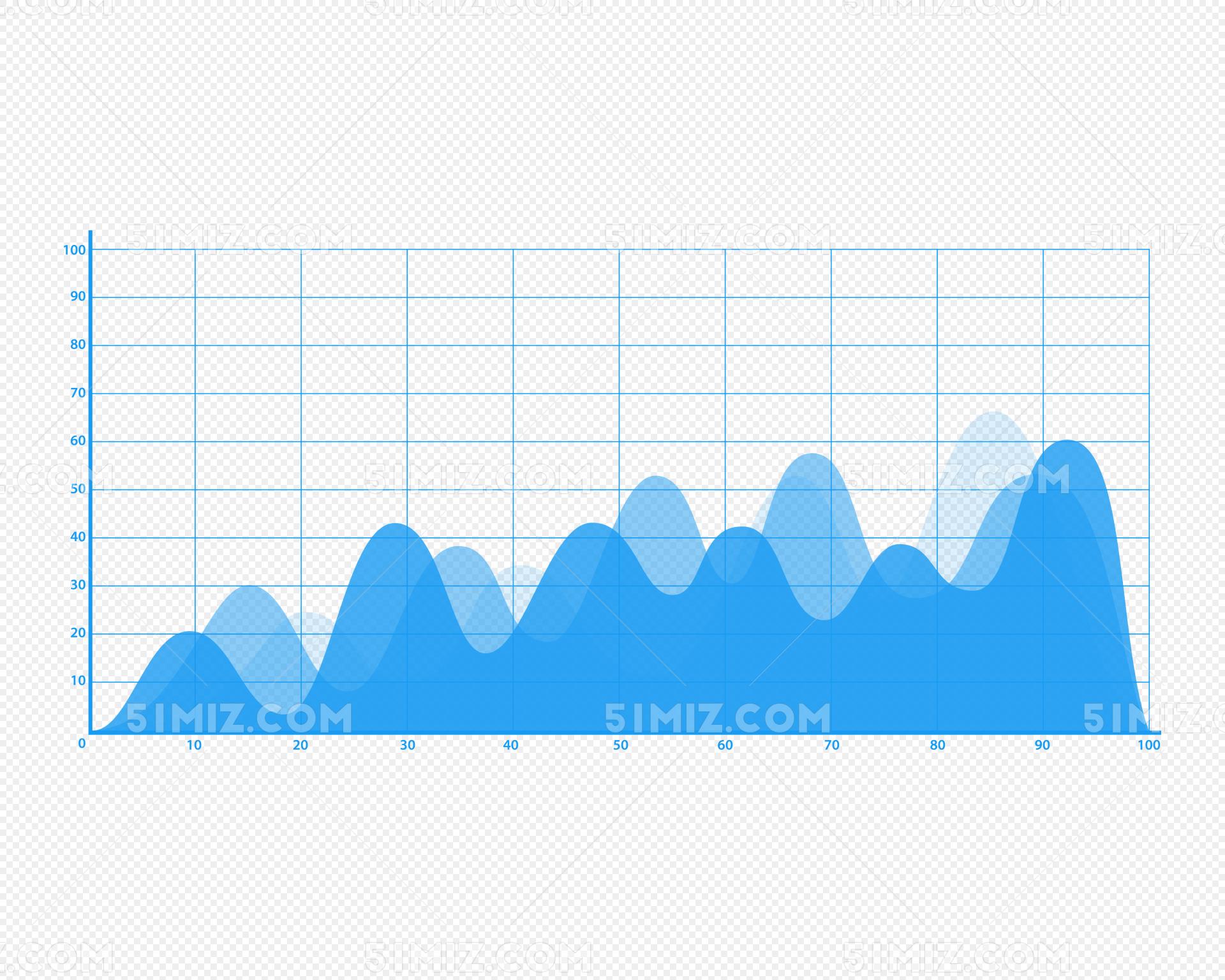 蓝色股票曲线图素材