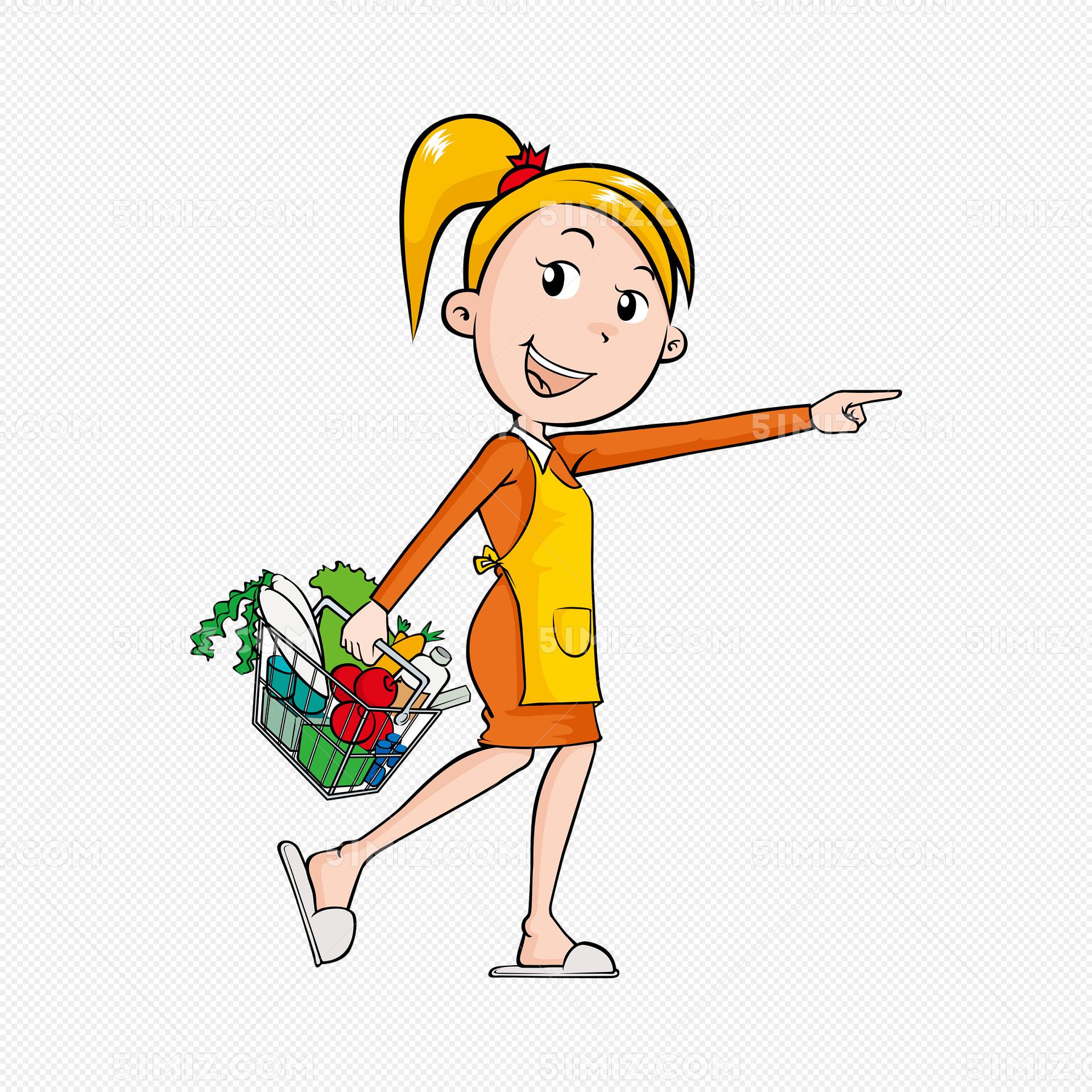 买菜的女人场景图图片