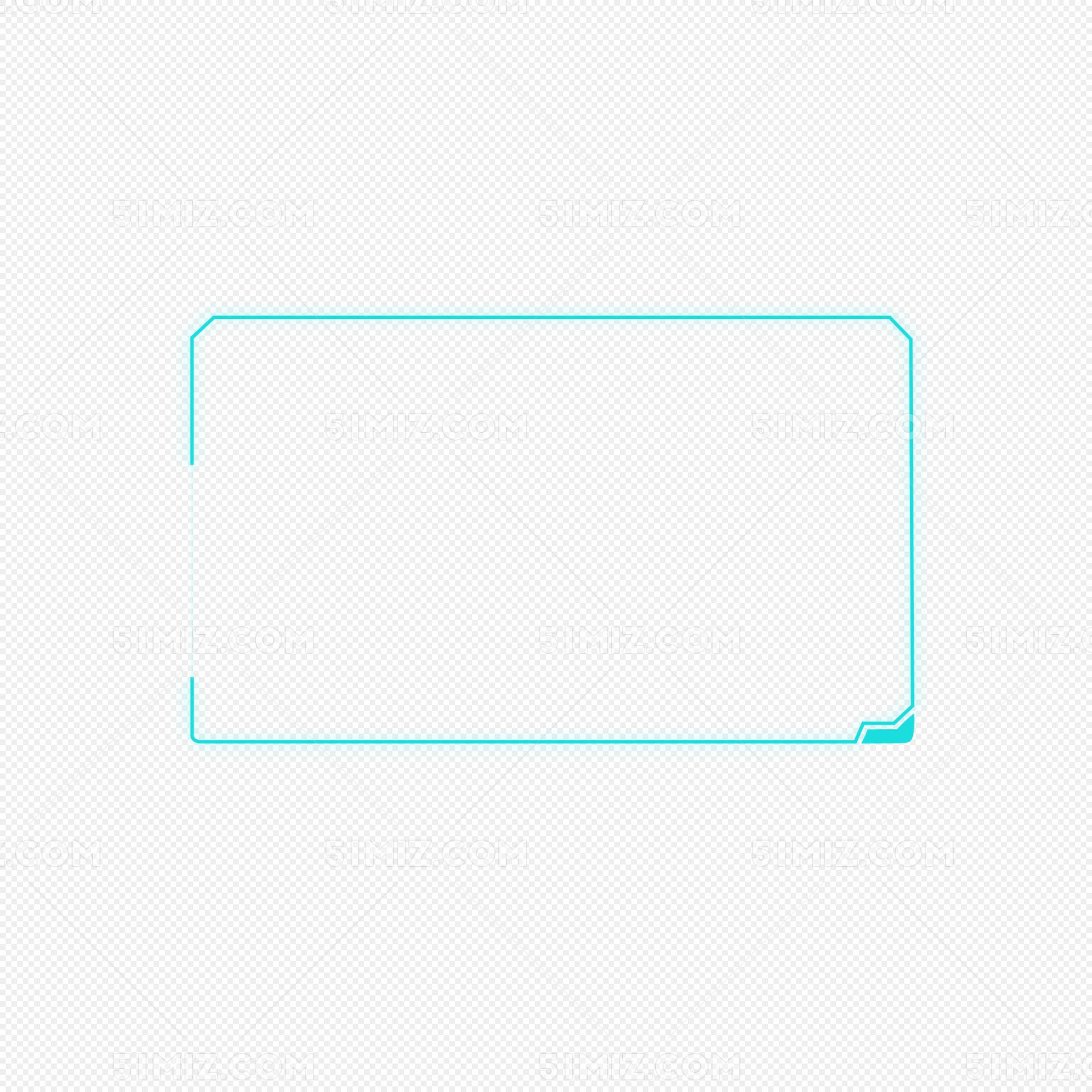 蓝色科技感边框线条