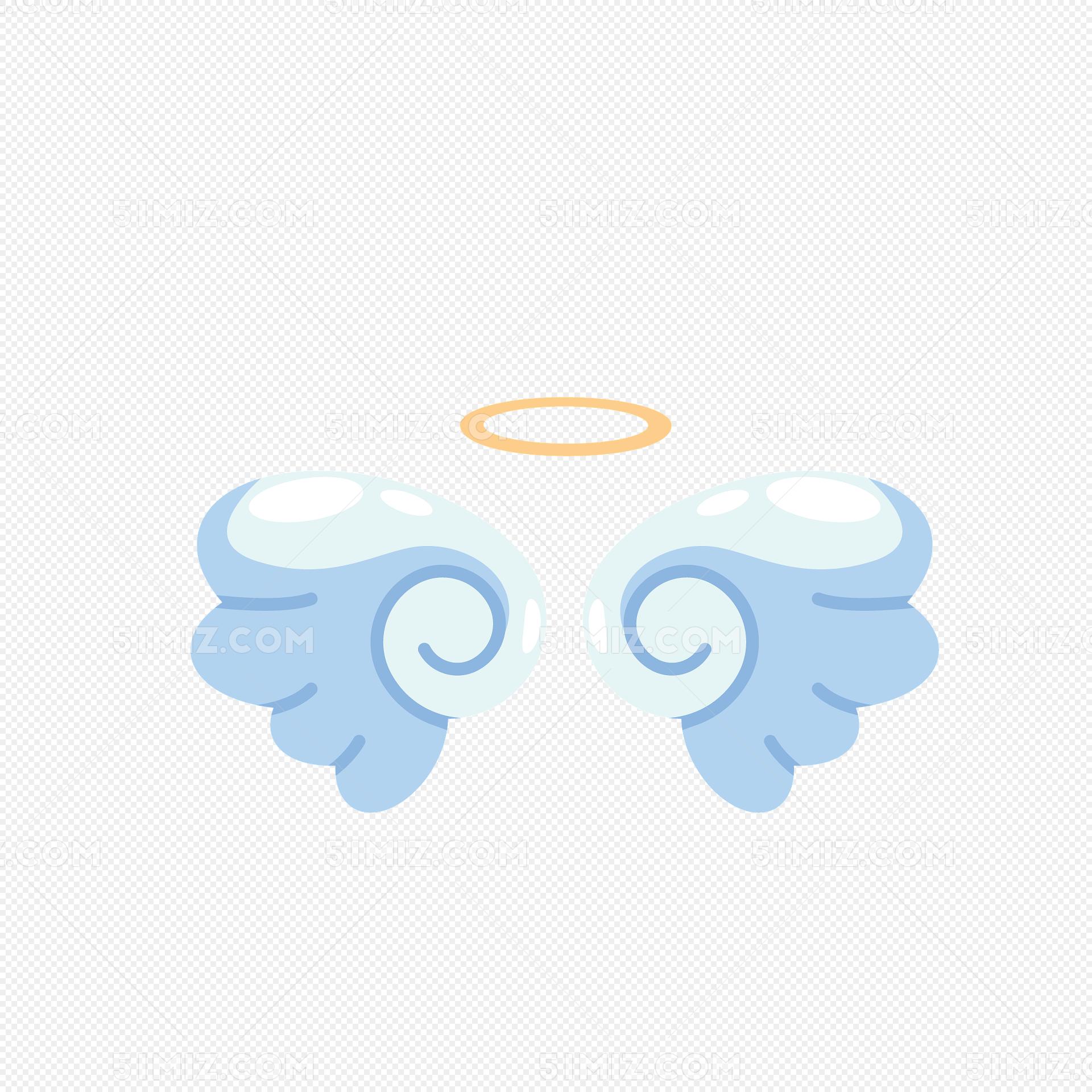 白色可爱天使翅膀图片素材免费下载_觅知网