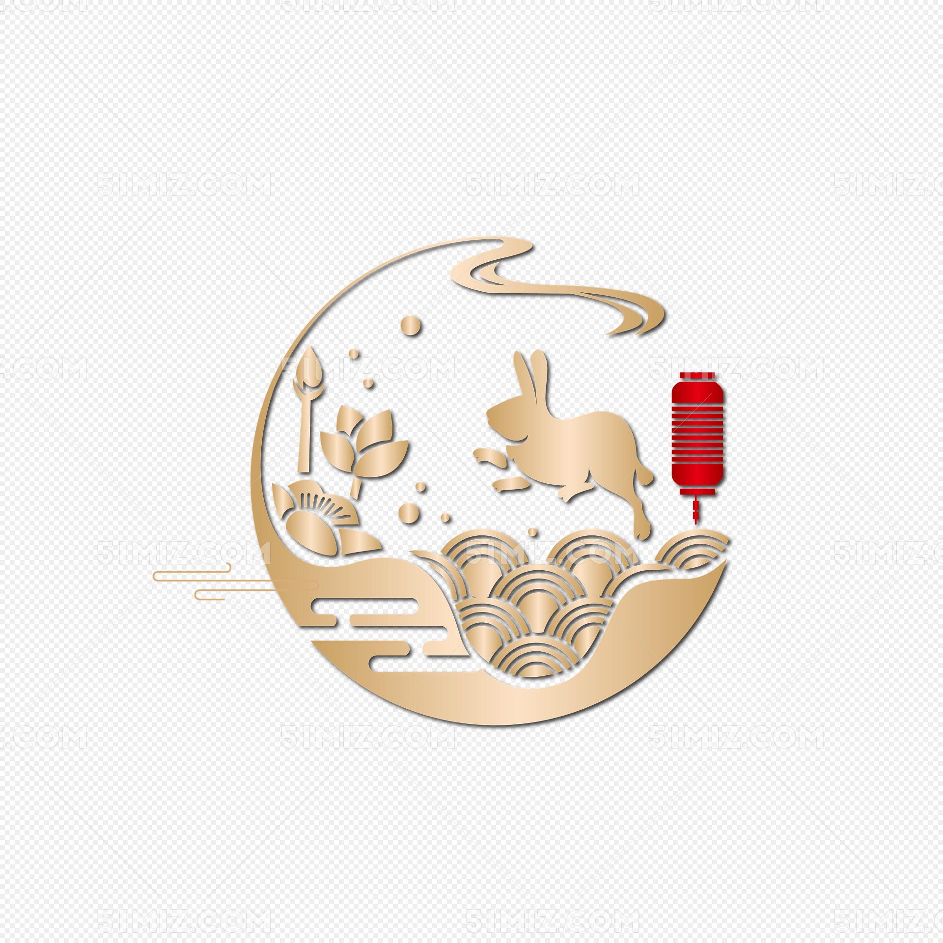 矢量中秋兔子玉兔图片素材免费下载_觅知网