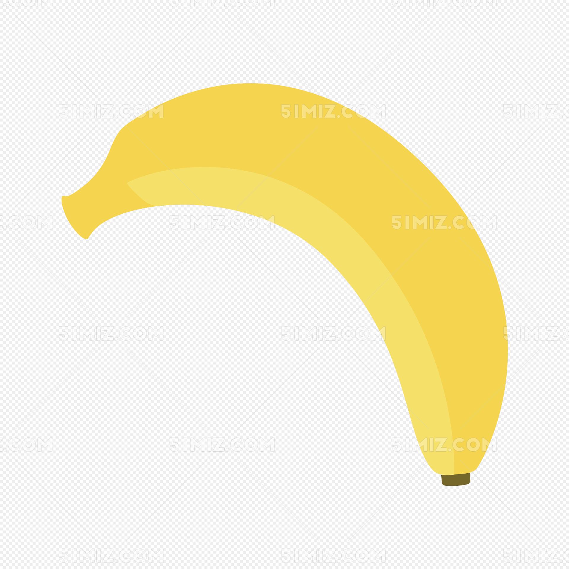 卡通香蕉矢量图下载