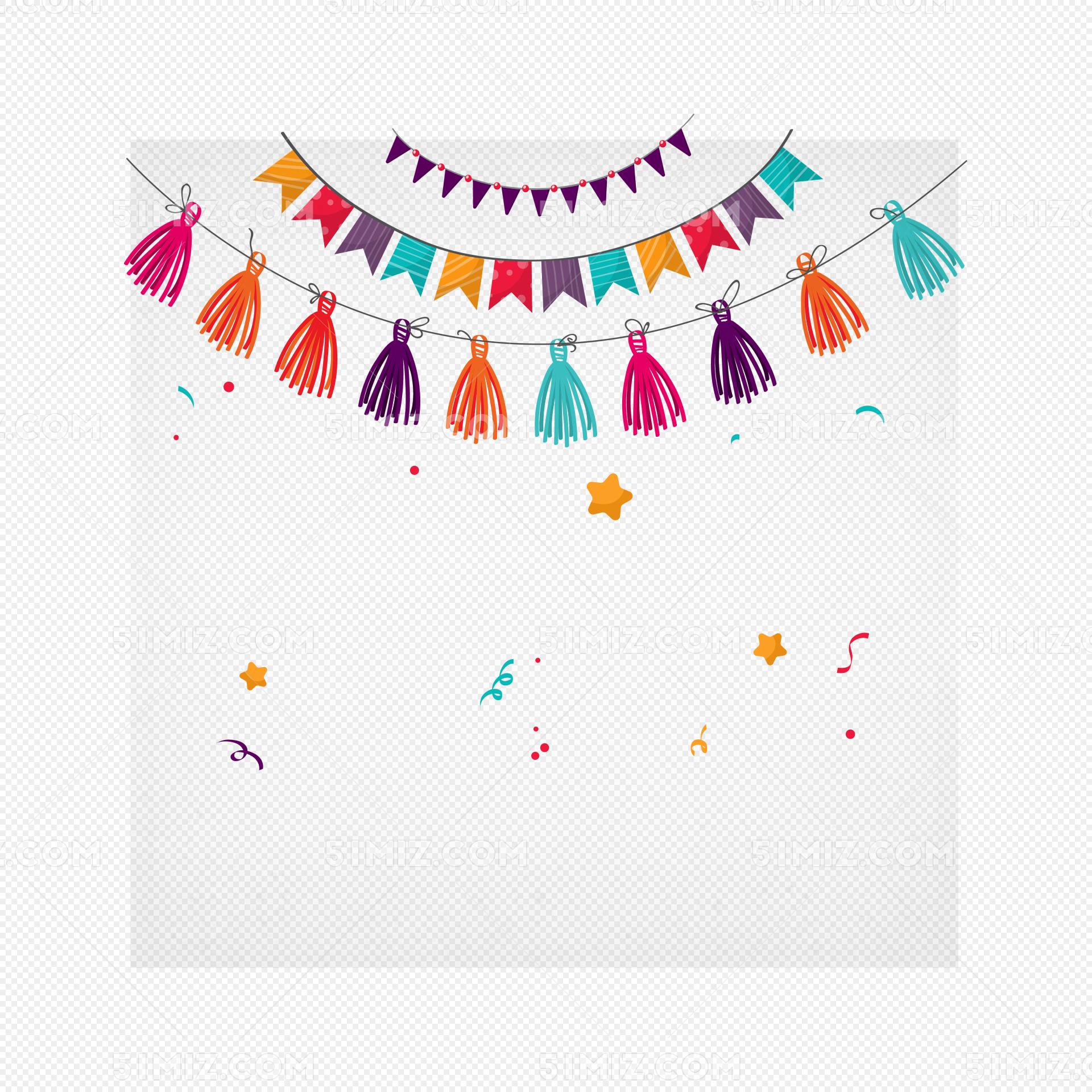 彩色庆祝彩带免费下载_png素材_觅知网