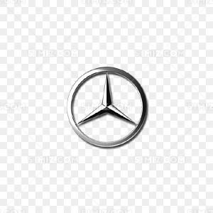 奔驰车标免费下载 PNG素材 觅知网