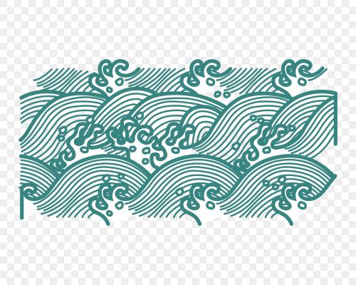浪花矢量古典水紋