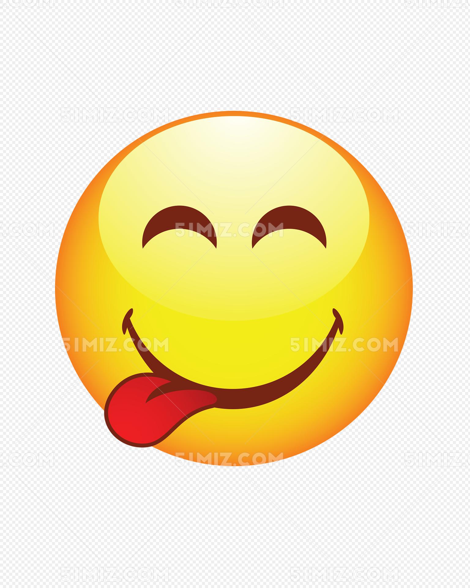 欢快卡通笑脸头像图片素材免费下载 觅知网