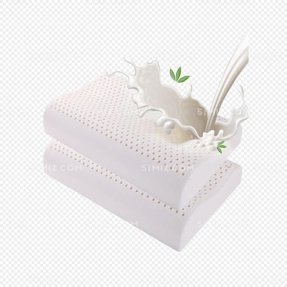 天然乳胶安睡枕免费下载_png素材_觅知网