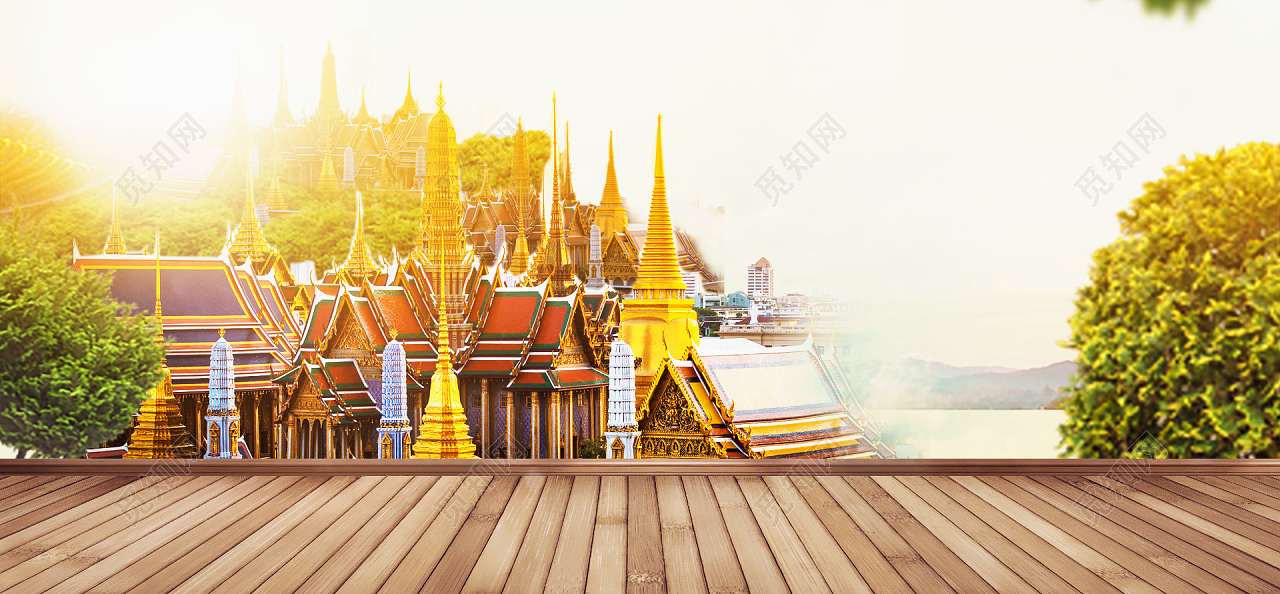 淘宝进口水果泰国风景海报背景banner
