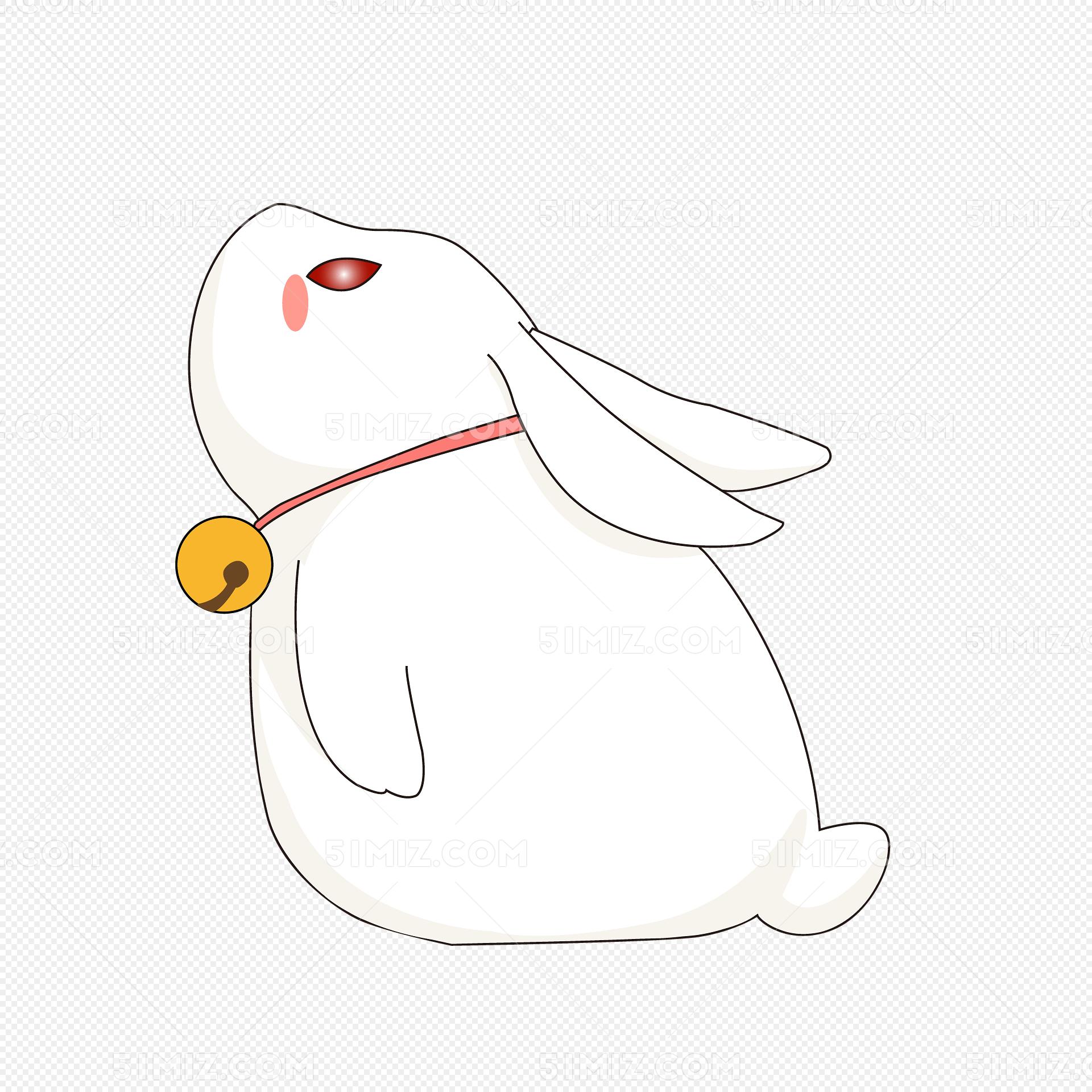 月兔的简画的步骤