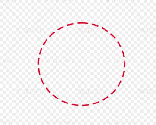 虚线圆圈简单装饰边框