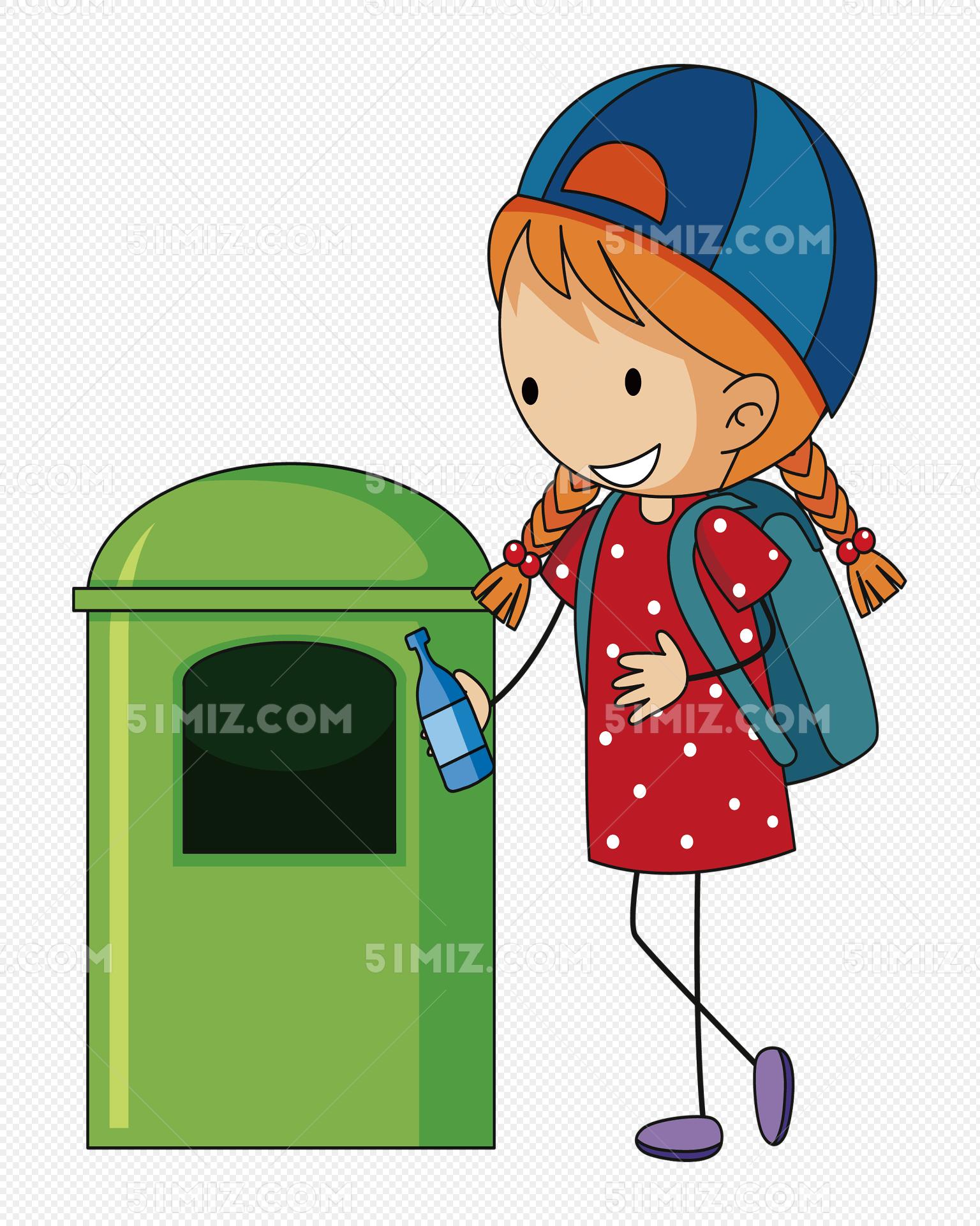 保护环境扔垃圾进垃圾桶标签:保护环境扔垃圾进垃圾桶免费下载 矢量