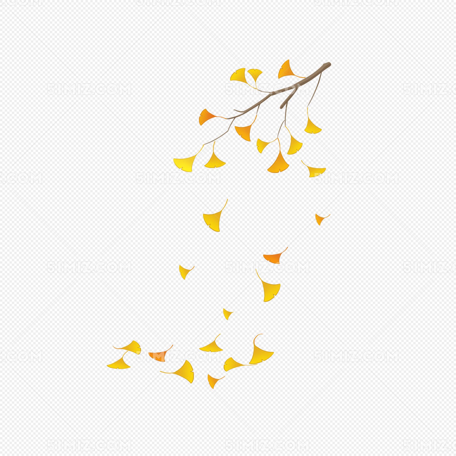 秋季落叶手绘插画
