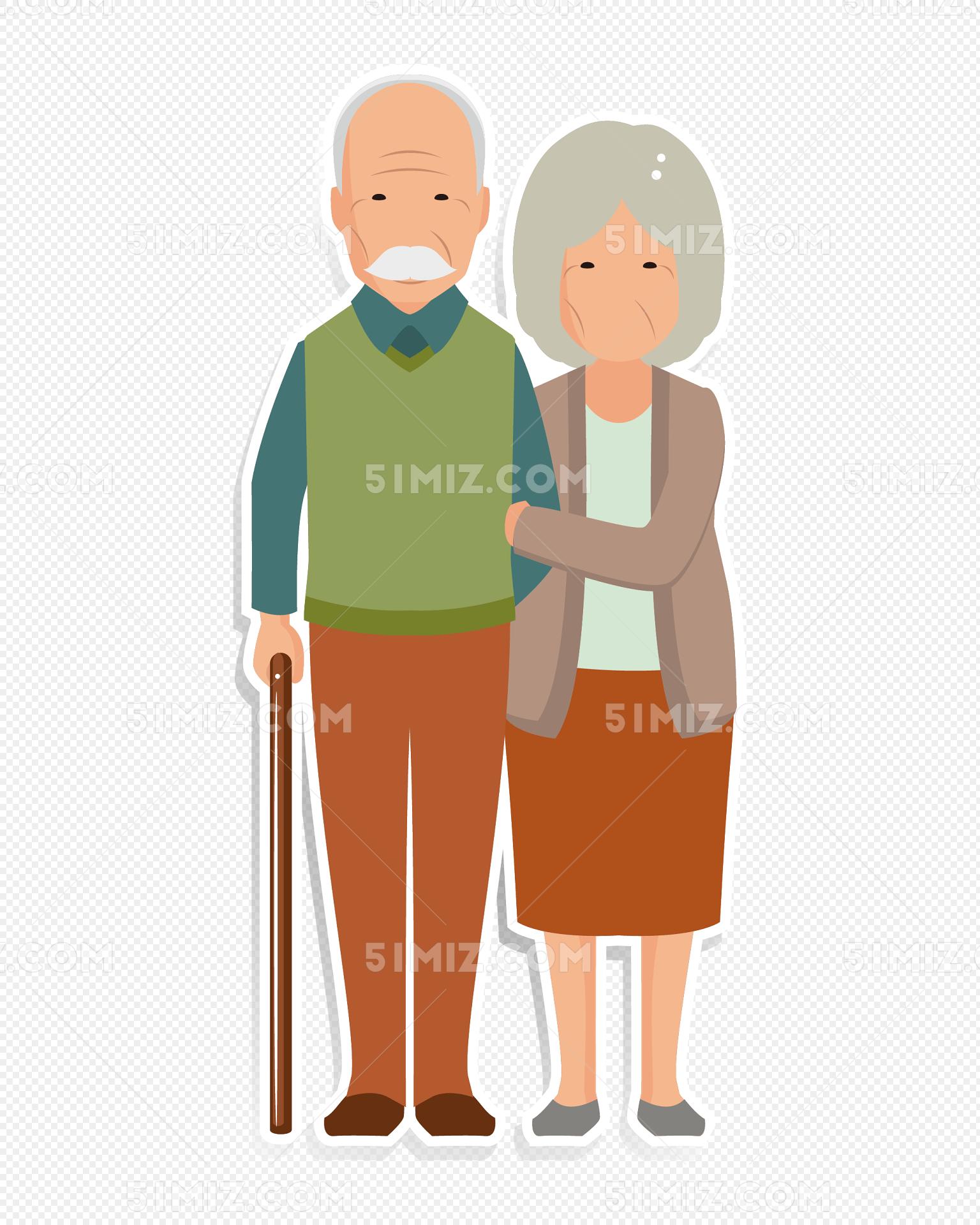 熟肥老夫妻_矢量老夫妻爷爷奶奶矢量老夫妻爷爷奶奶